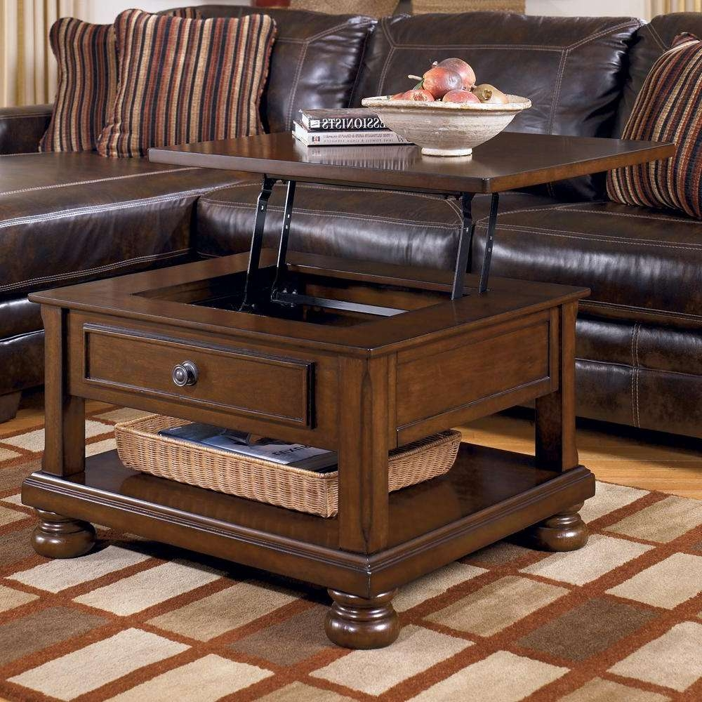 Famous Square Storage Coffee Table In Coffee Table Large Square Coffee Table With Storage Drawers Old (View 10 of 20)