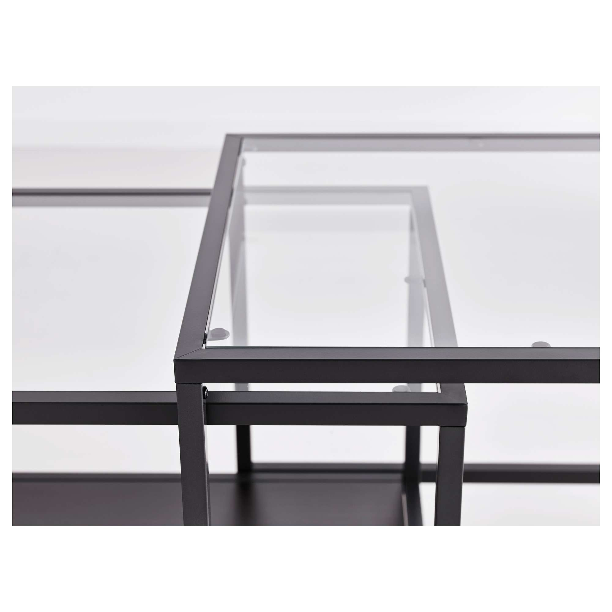 Famous Stackable Coffee Tables Throughout Vittsjö Nesting Tables, Set Of 2 – Black Brown/glass – Ikea (View 10 of 20)