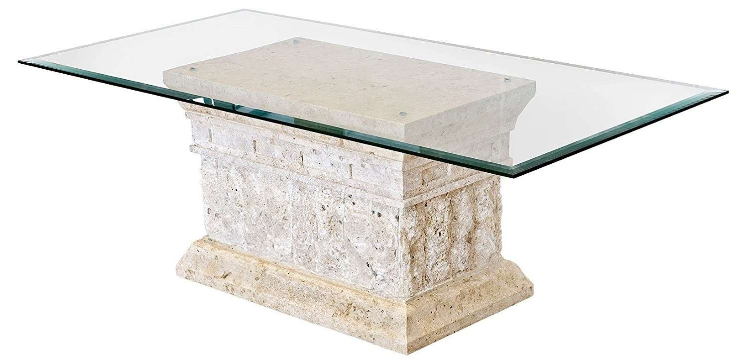 Famous Stone And Glass Coffee Tables Intended For Glass Coffee Table With Stone Base Home Remodel Marina Coffee (View 7 of 20)