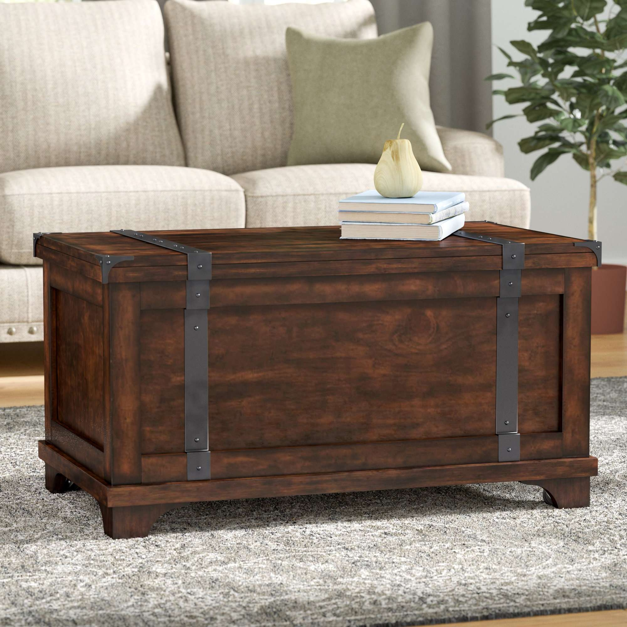 Famous Storage Trunk Coffee Tables Inside Charlton Home Bischoptree Storage Trunk Coffee Table & Reviews (View 6 of 20)