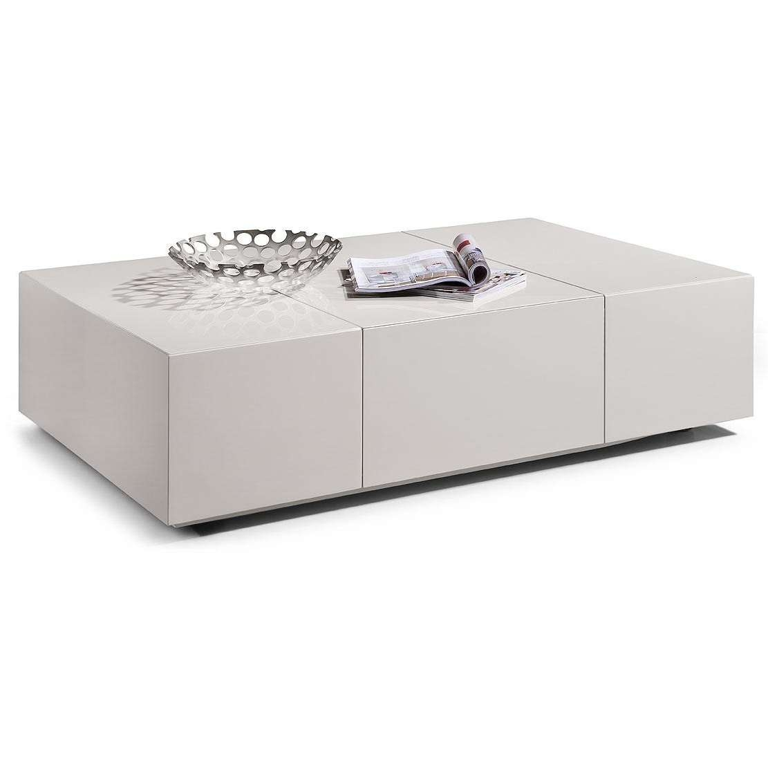 Famous White Coffee Tables With Storage Pertaining To Coffee Table, Pretty White Modern Coffee Table On Modern White (View 9 of 20)