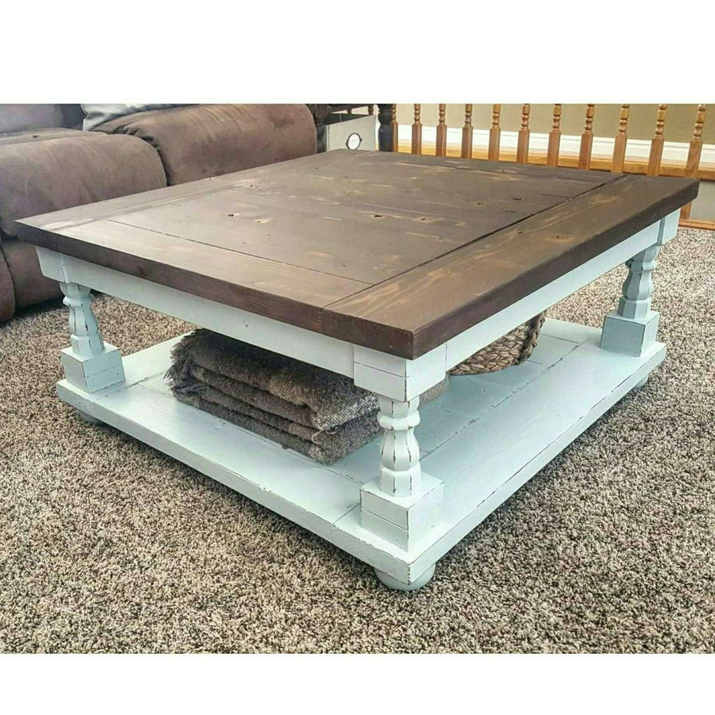 Famous White Cottage Style Coffee Tables Intended For Coffee Tables : Oversized Coffee Table Round Marble Top Gold (View 9 of 20)