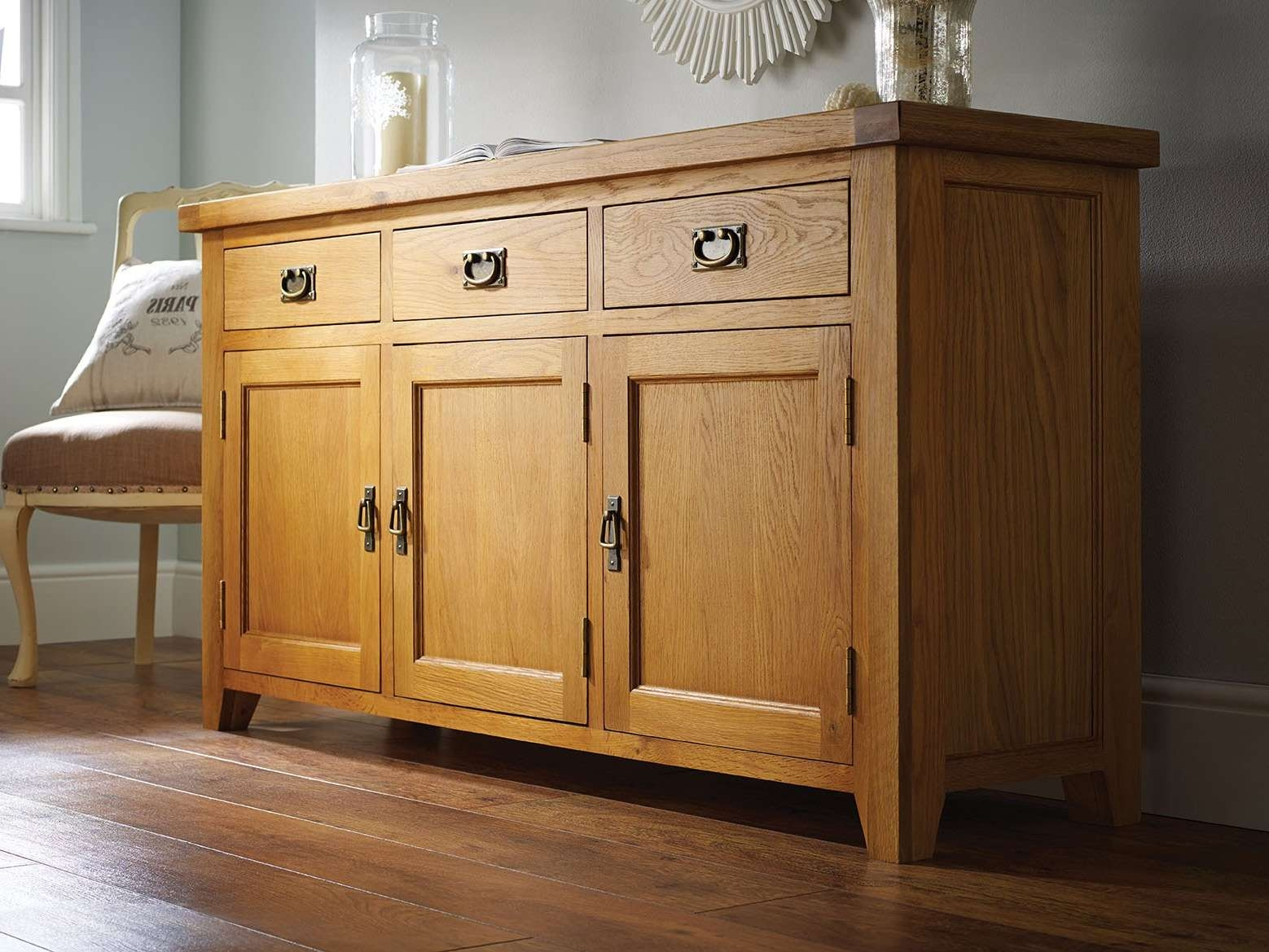 Farmhouse Country Oak Large Oak Sideboard – Just £399 – Youtube Throughout Country Sideboards (View 6 of 20)
