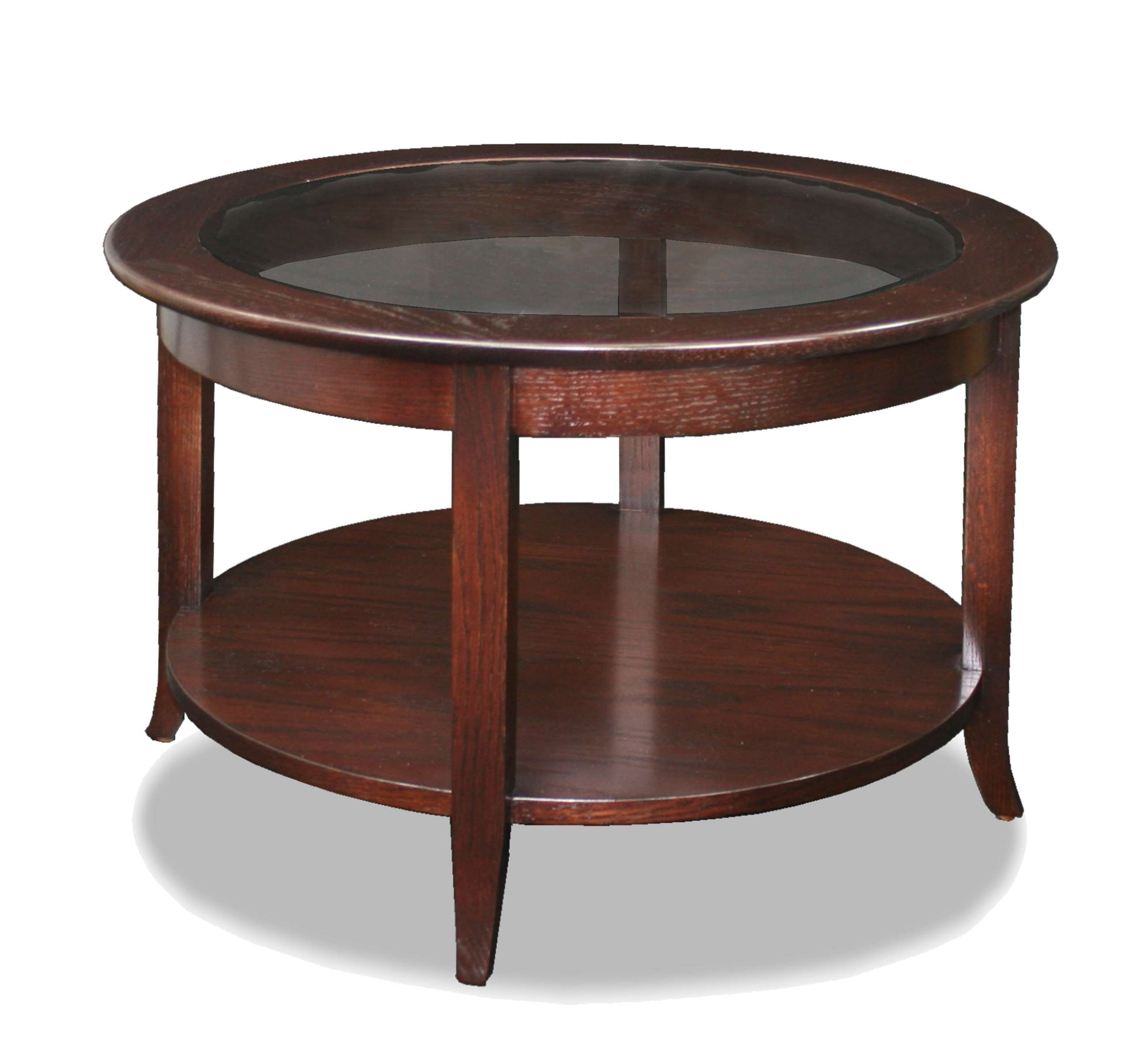 Fascinating Round Wood Coffee Table For Home Coffee Bar – Midcityeast Regarding Current Round Glass And Wood Coffee Tables (View 7 of 20)