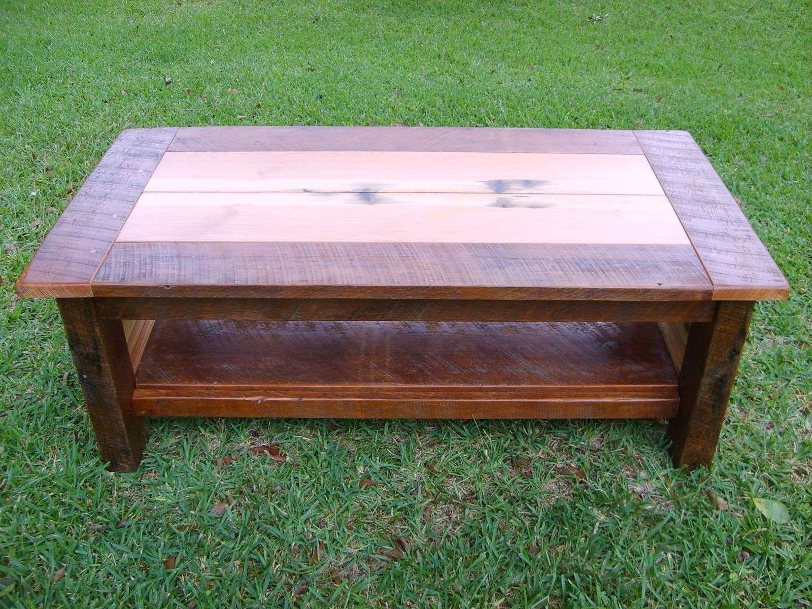 Fashionable Antique Pine Coffee Tables Intended For Hand Made Reclaimed Heart Pine Coffee Tablenorm's Custom (View 9 of 20)