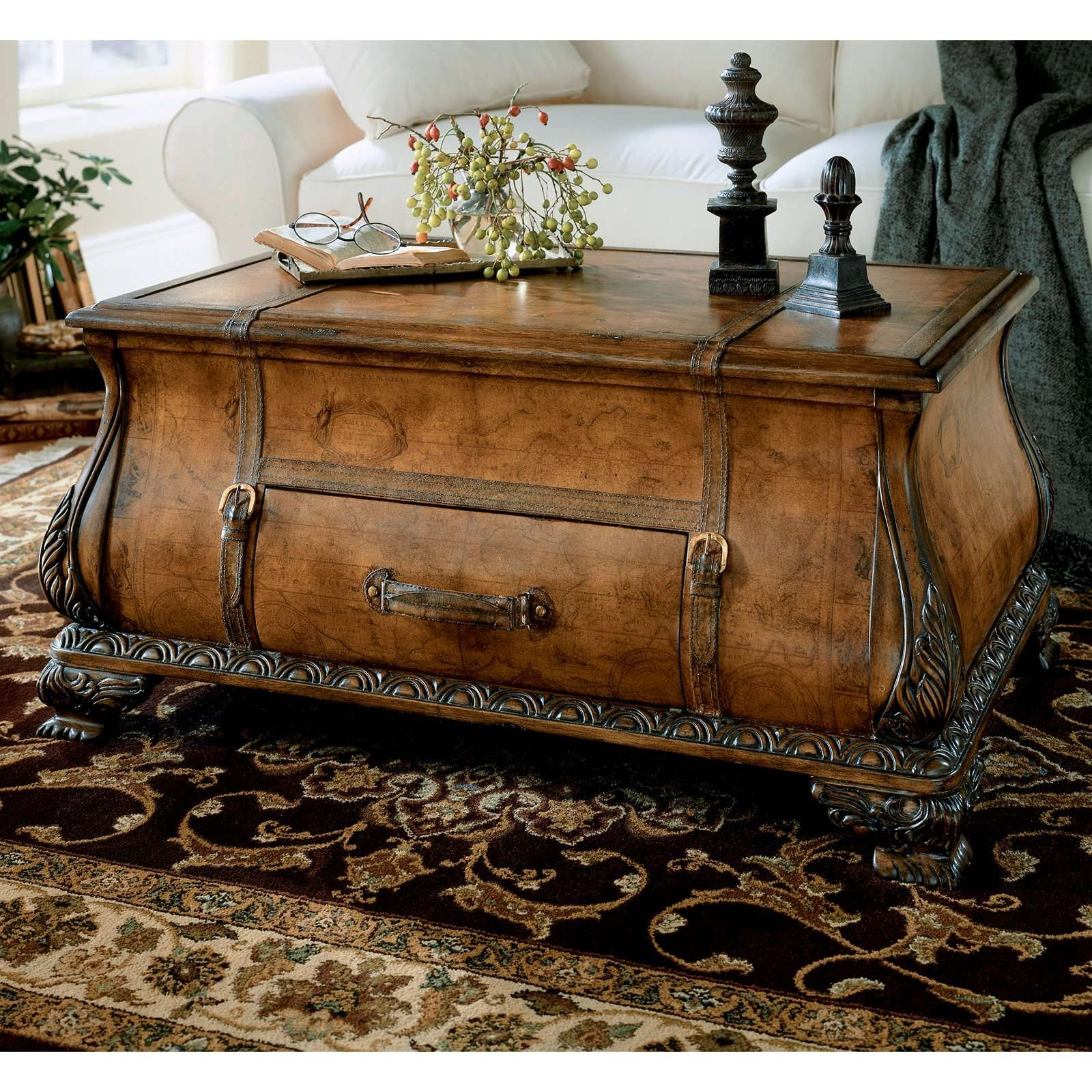 Fashionable Bombay Coffee Tables Pertaining To Butler Bombe Trunk Coffee Table – Heritage – Walmart (View 11 of 20)