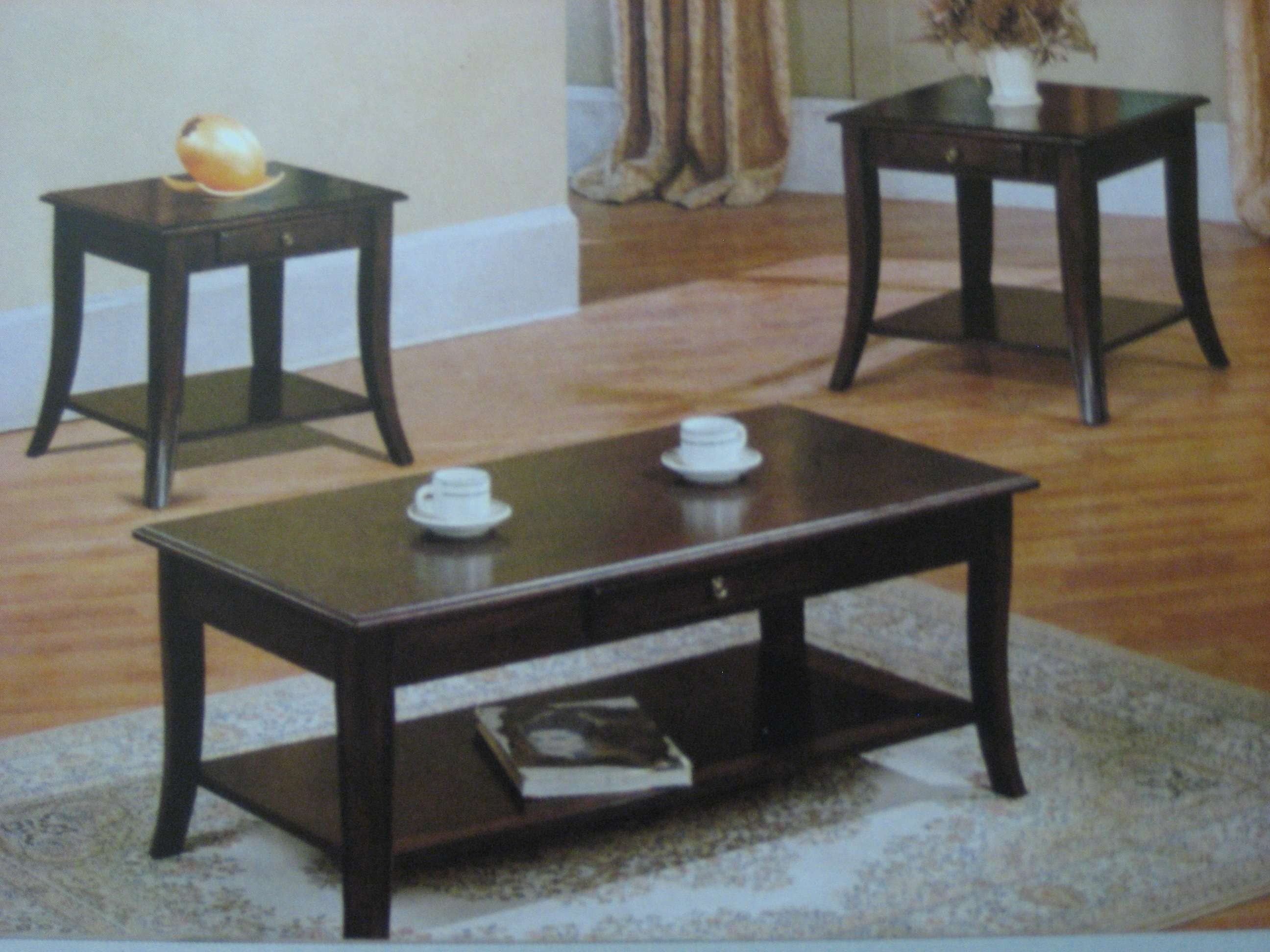 Fashionable Cherry Wood Coffee Table Sets Throughout Coffee Table : Wonderful Glass For Coffee Table End Table Sets (View 12 of 20)