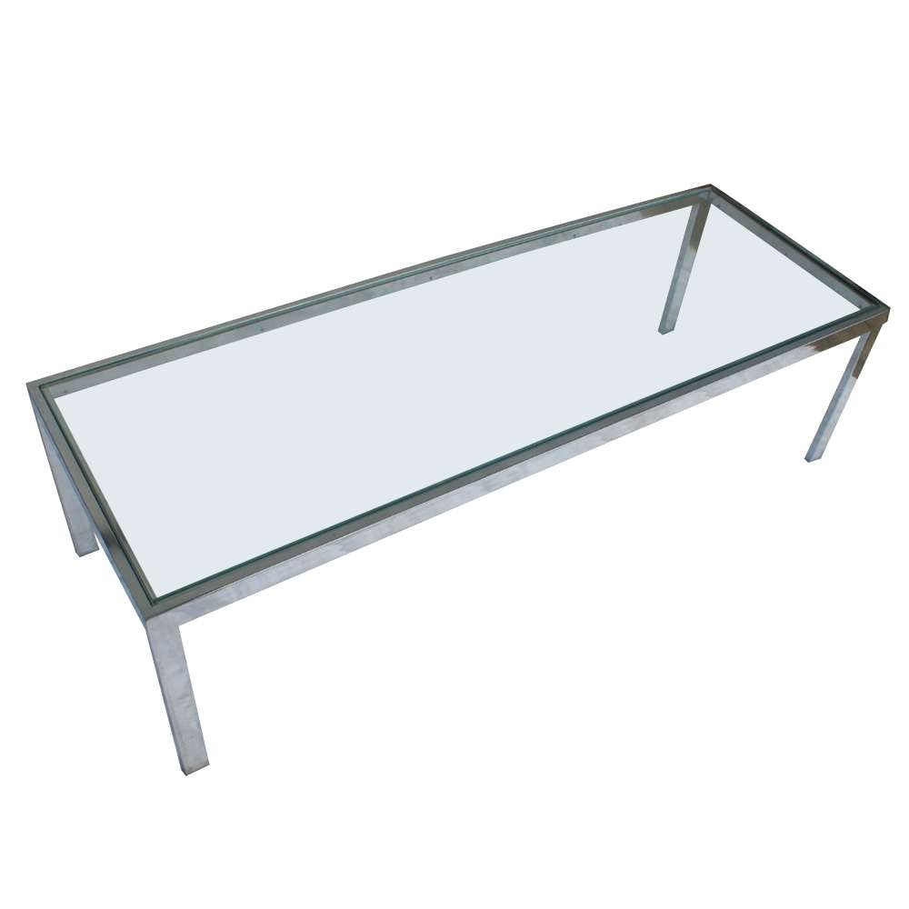 Fashionable Chrome Glass Coffee Tables Throughout Midcentury Retro Style Modern Architectural Vintage Furniture From (View 14 of 20)