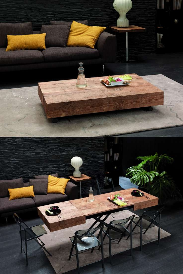 Fashionable Coffee Table To Dining Table With Regard To Space Saver: Space Saving Dining Tables (View 18 of 20)