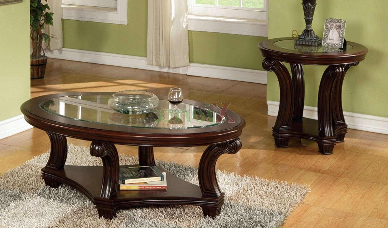 Fashionable Coffee Table With Matching End Tables Inside Glass Coffee Carafe Wood And Glass Coffee Table Sets Formal Dining (View 3 of 20)