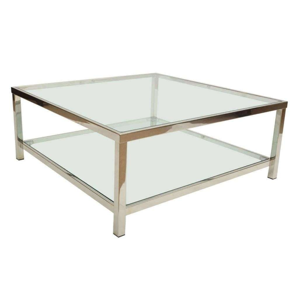 Showing Gallery Of Coffee Tables With Chrome Legs View Of Photos - Round glass coffee table with chrome legs