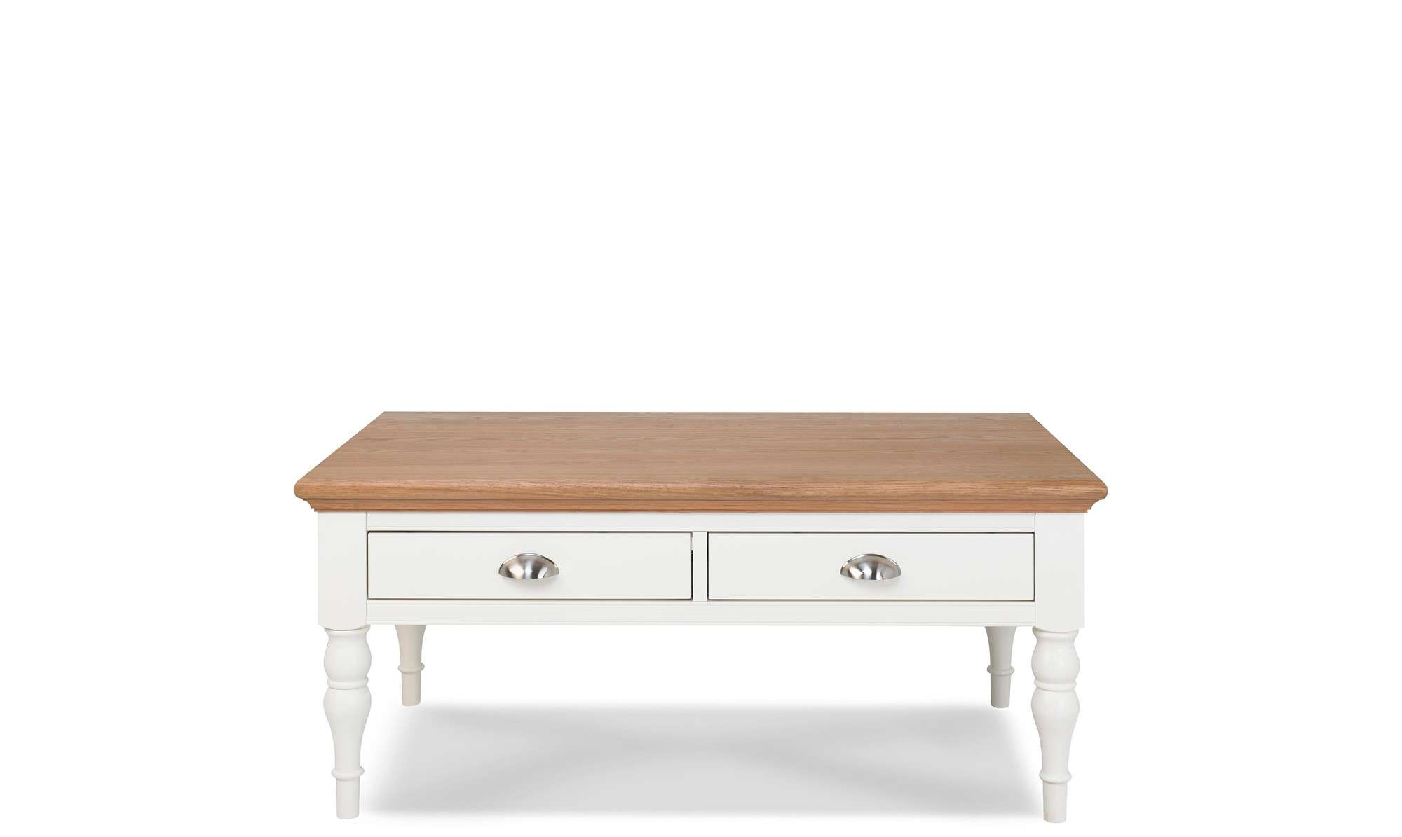 Fashionable Cream Coffee Tables With Drawers In Coffee Tables – Wooden And Glass Coffee Tables – Fishpools (View 2 of 20)