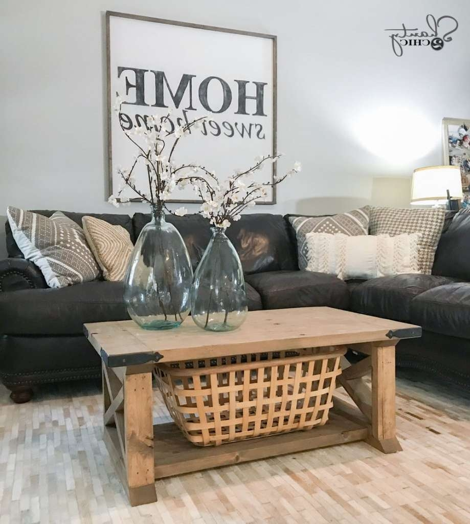 Fashionable Farmhouse Coffee Tables Throughout Diy 8 Board Farmhouse Coffee Table – Shanty 2 Chic (View 19 of 20)
