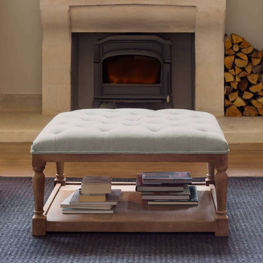 Fashionable Footstool Coffee Tables Throughout Coffee Table : Stunning Padded Coffee Table Image Design Grey (View 12 of 20)