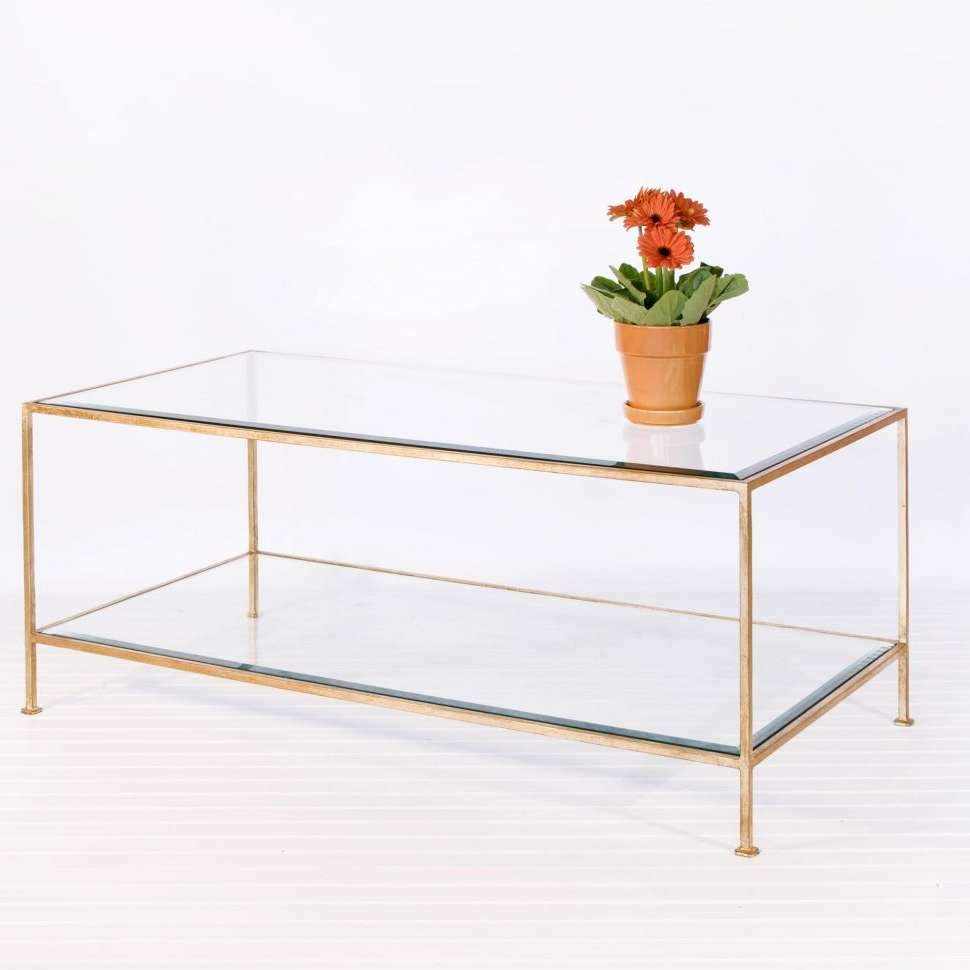 Fashionable Glass Coffee Tables With Shelf With Regard To Coffee Tables : White And Wood Coffee Table Marble Gold Glass (View 7 of 20)