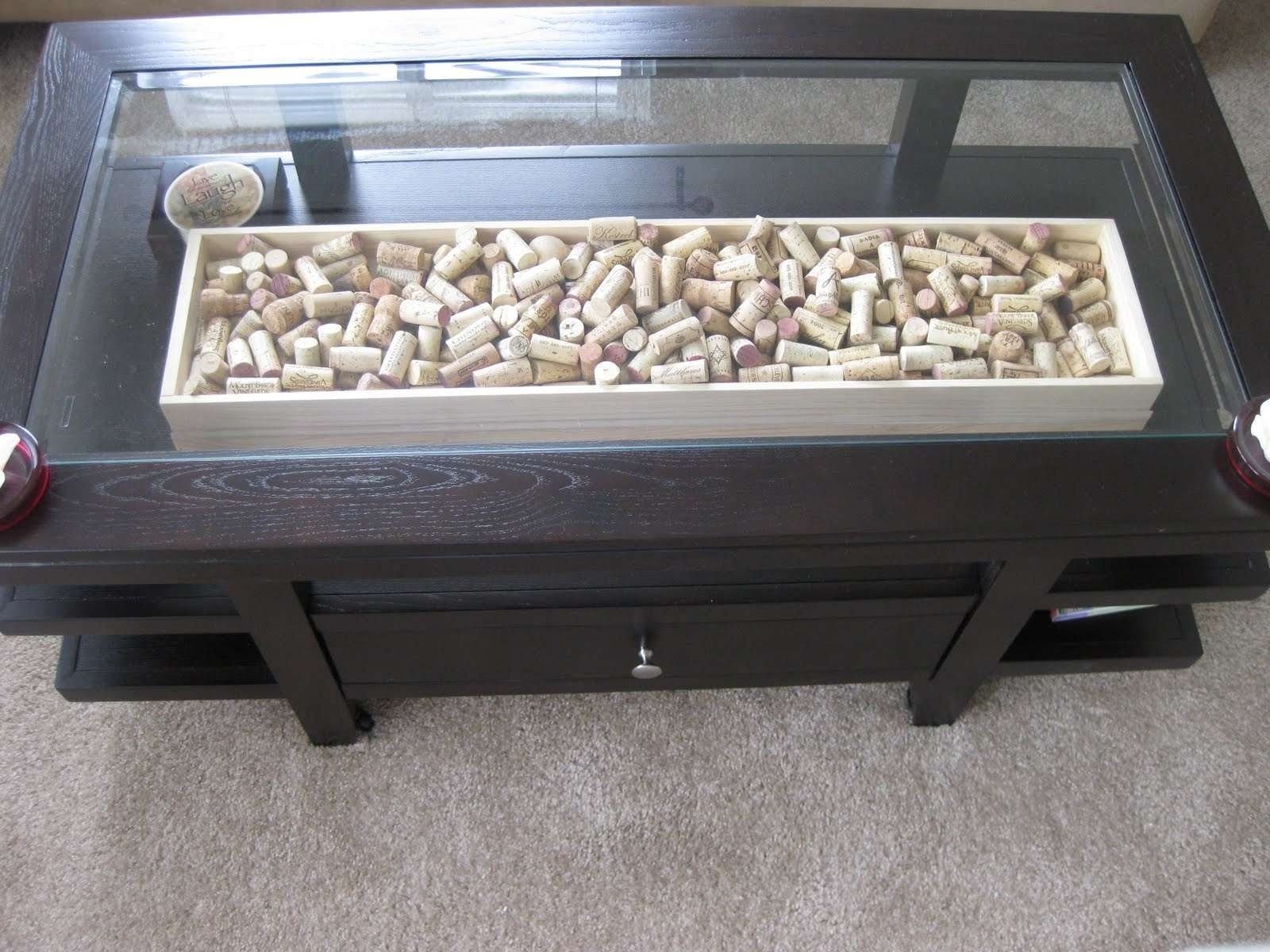 Fashionable Glass Top Storage Coffee Tables With Regard To Glass Tea Table Tags : Amazing Metal Glass Coffee Table (View 2 of 20)