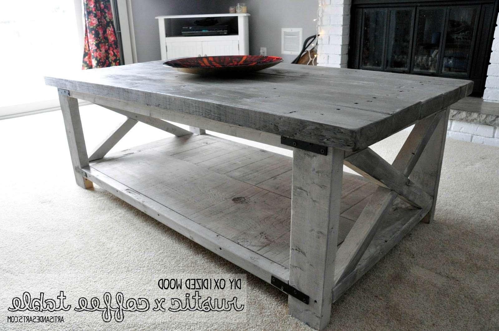 Fashionable Gray Wash Coffee Tables Inside Coffee Tables : Breathtaking  Newtitle Grey Coffee Table Crafted (