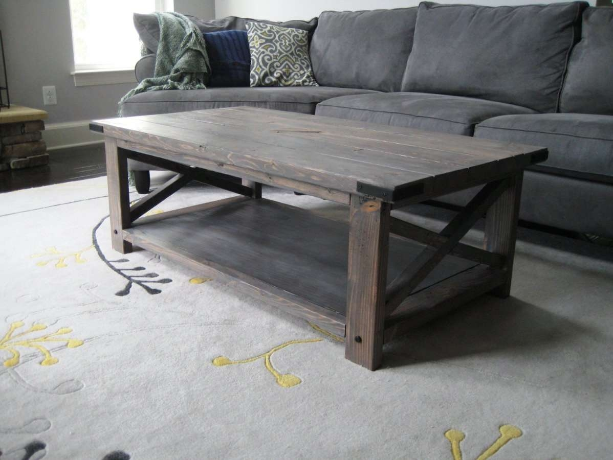 Fashionable Gray Wood Coffee Tables For Coffee Tables : Attractive Home: Grey Round Coffee Table (View 9 of 20)