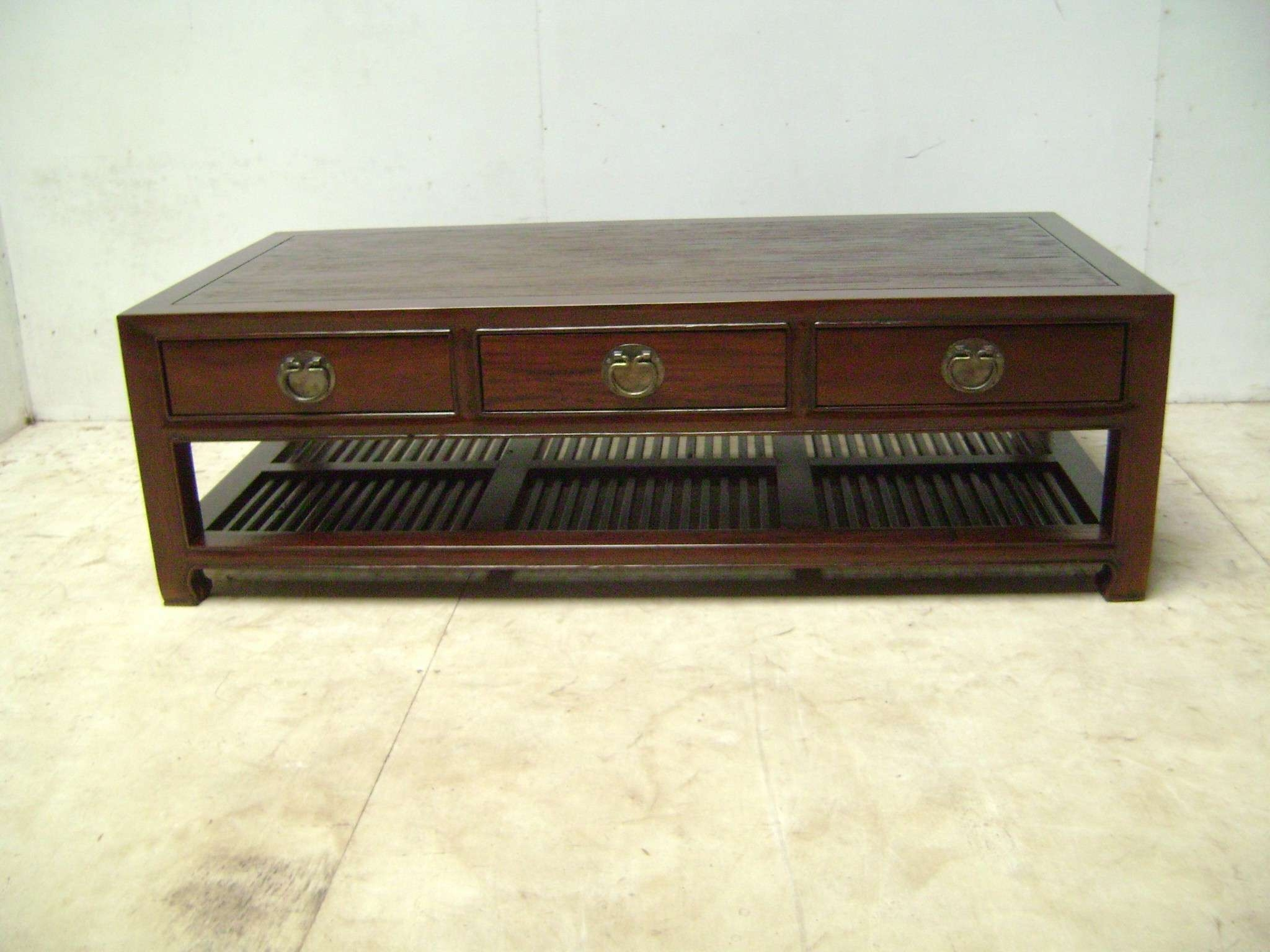 Fashionable Low Coffee Tables With Drawers With 3 Drawer Chinese Coffee Table Chinese Coffee Tables Australia (View 4 of 20)