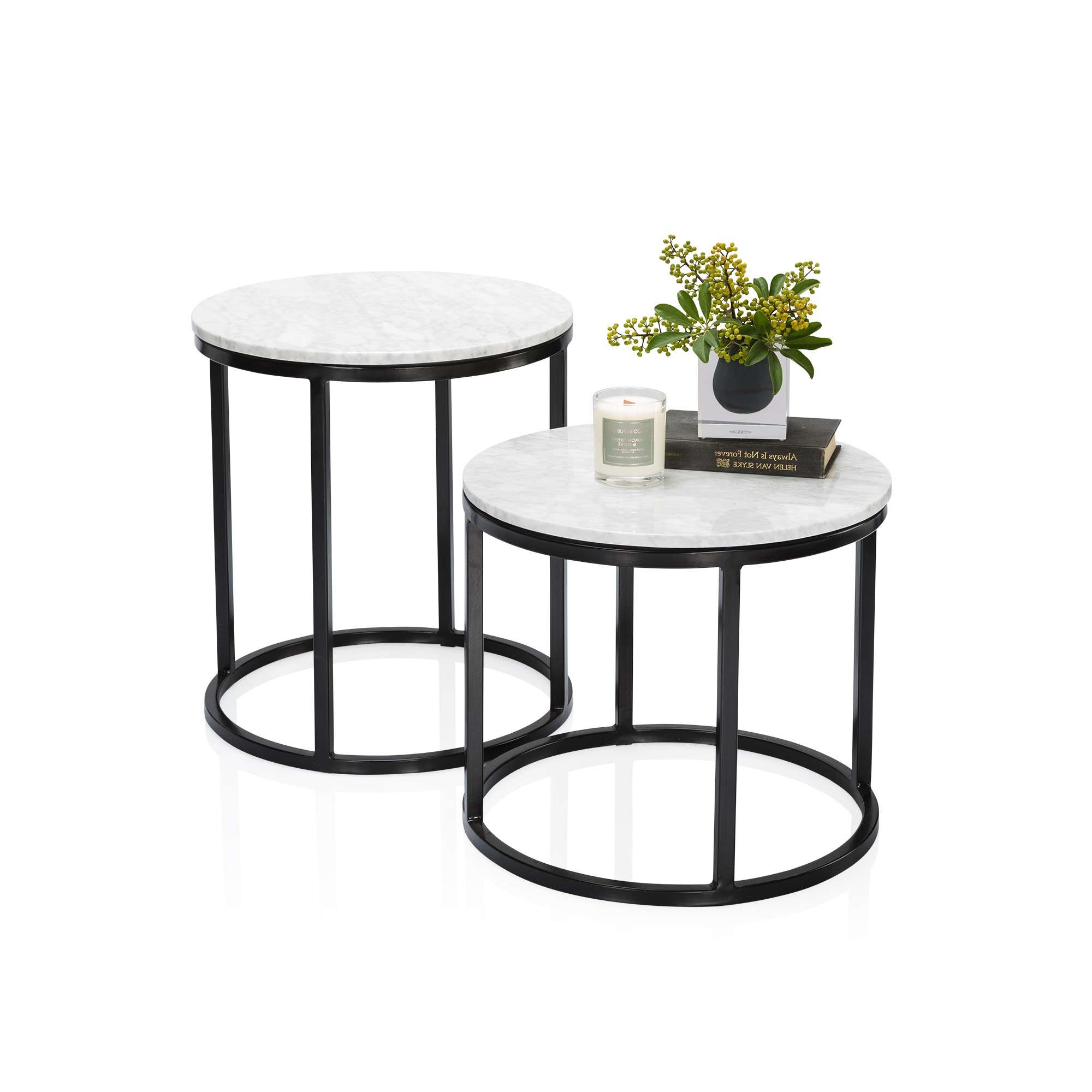 Fashionable Marble Round Coffee Tables Throughout Noho Marble Side Table (View 11 of 20)