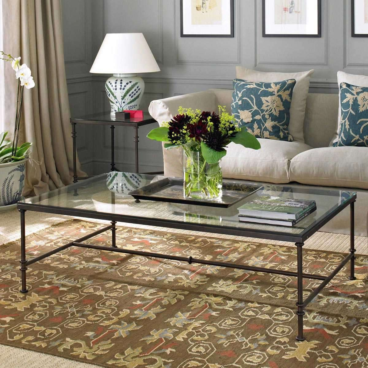 Fashionable Metal Glass Coffee Tables With Regard To Metal And Glass Coffee Table (View 6 of 20)