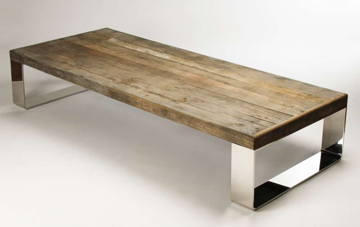 Fashionable Natural Wood Coffee Tables With Natural Wood Large Eight Leg Coffee Table (View 13 of 20)