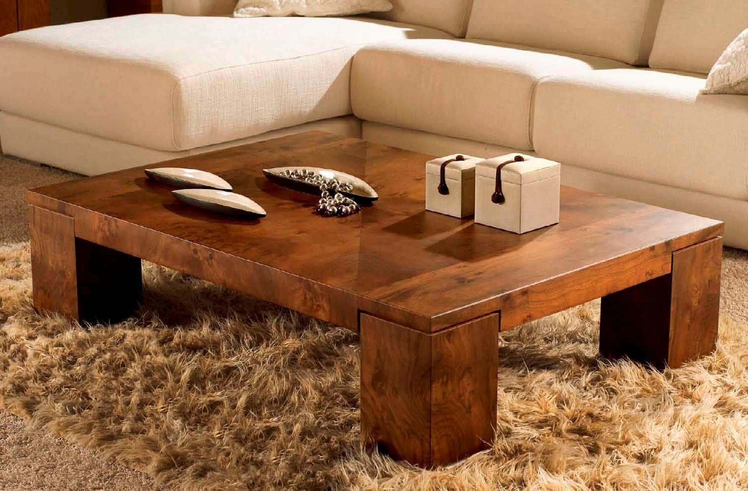 Fashionable Natural Wood Coffee Tables With Outstanding Square Coffee Tables Wood Images Decoration (View 7 of 20)