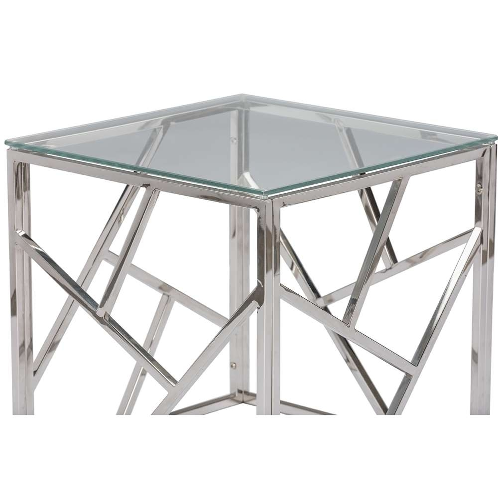 Fashionable Rectangle Glass Chrome Coffee Tables With Regard To Coffee Tables : Glass Chrome Coffee Table Rectangle Round Chrome (View 9 of 20)