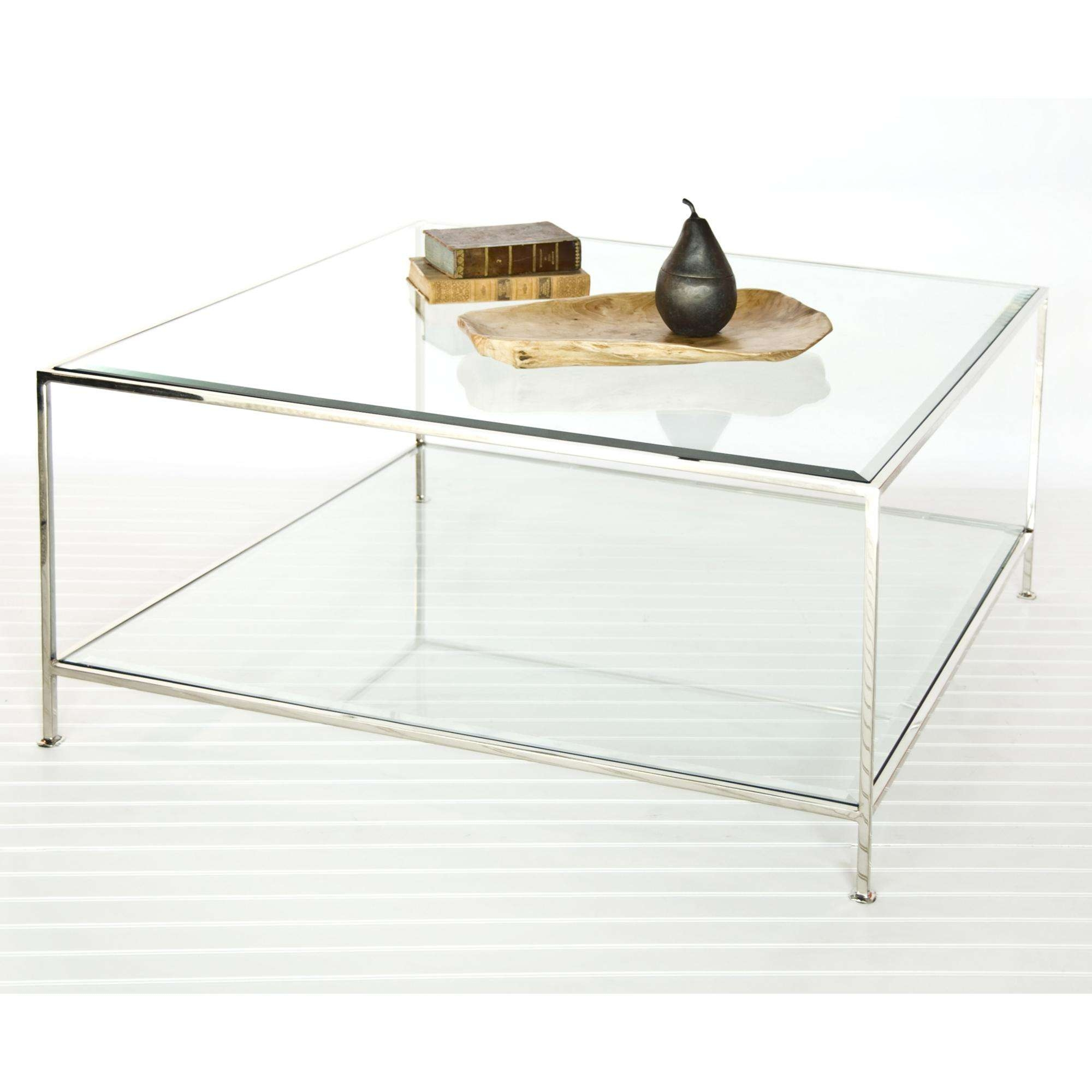 Fashionable Simple Glass Coffee Tables For Square Glass Coffee Tables Contemporary Cocktail Table From Worlds (View 6 of 20)