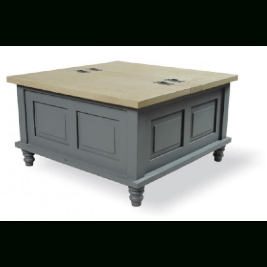 Fashionable Square Chest Coffee Tables Within Storm Grey Square Trunk  Coffee Table 80 X 80 (
