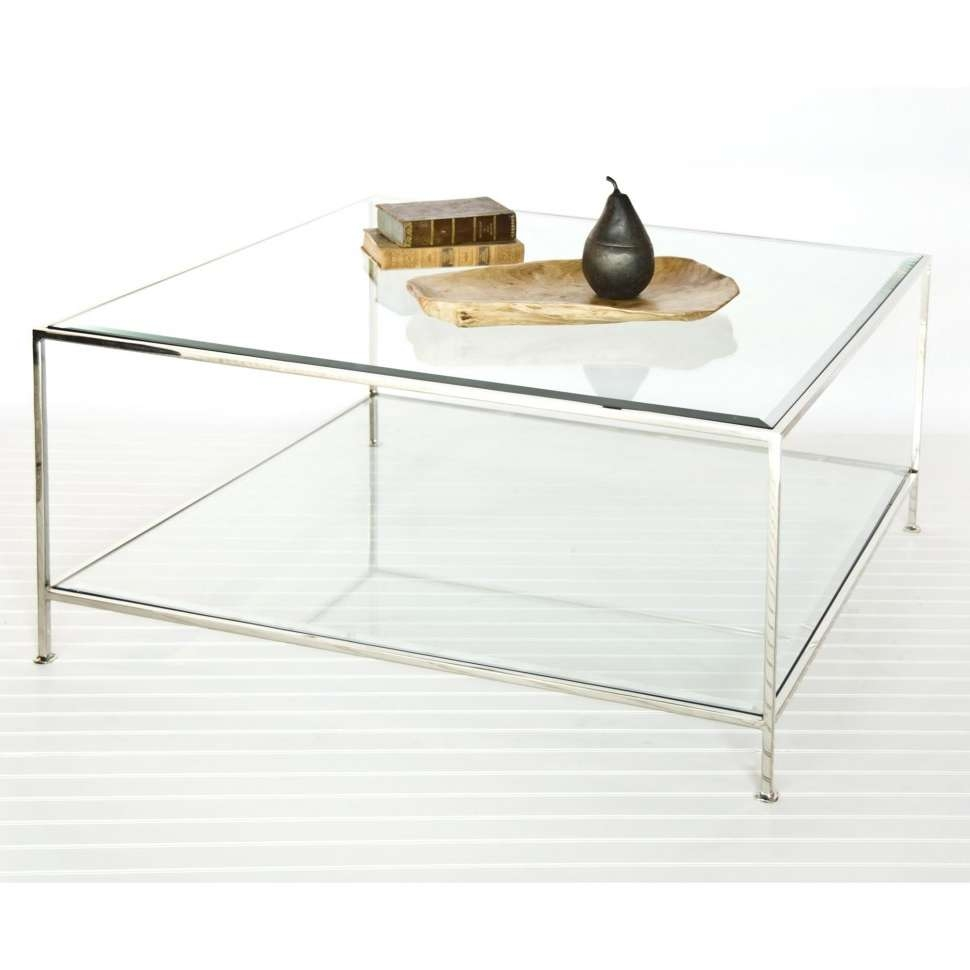 Fashionable Square Glass Coffee Tables With Decorations : Modern Glass Square Coffee Table Table Design Ideas (View 13 of 20)