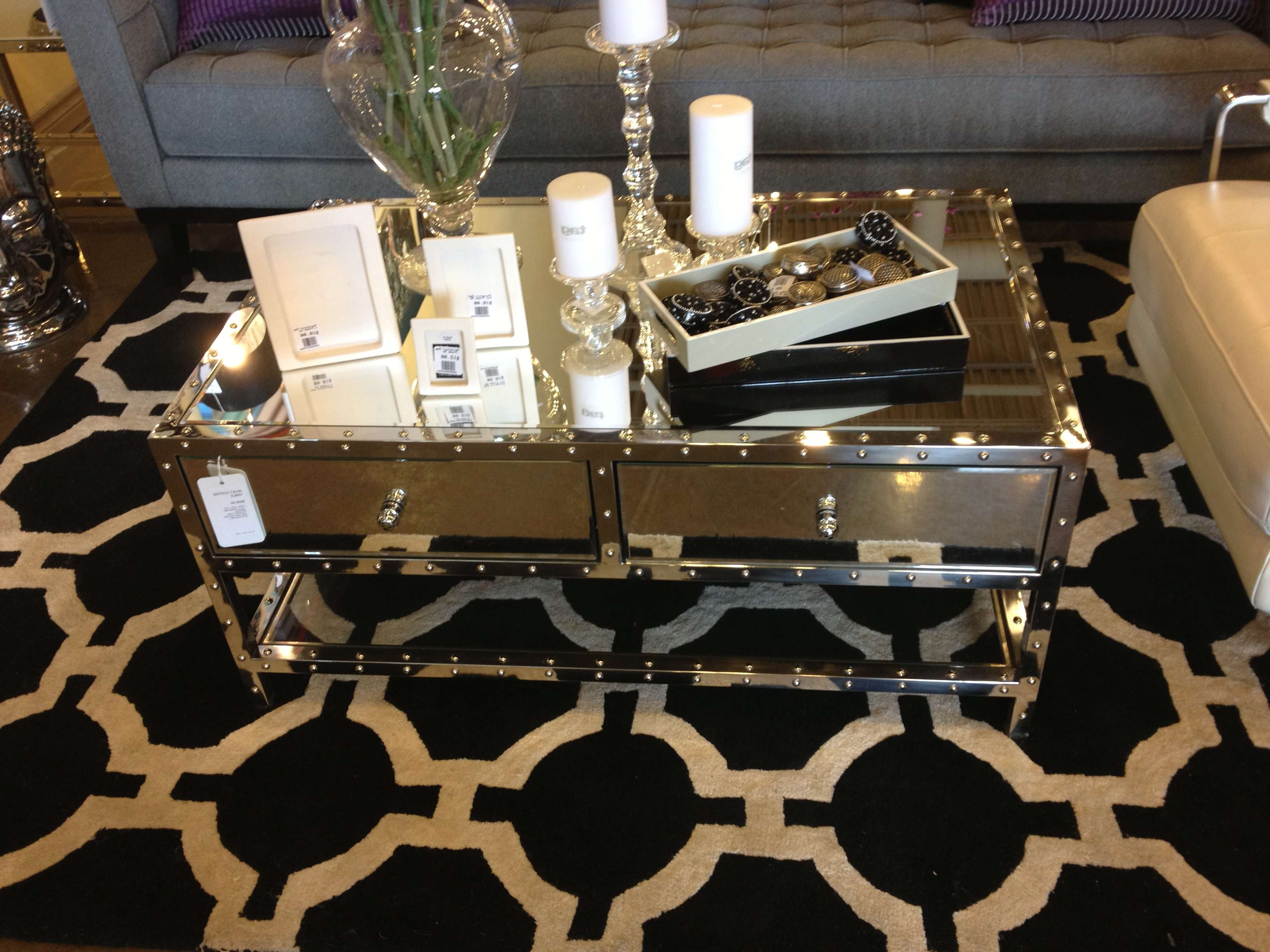 Fashionable Stainless Steel Trunk Coffee Tables Throughout Coffee Table : Coffee Table Mirror In Houston Tables And End (View 6 of 20)