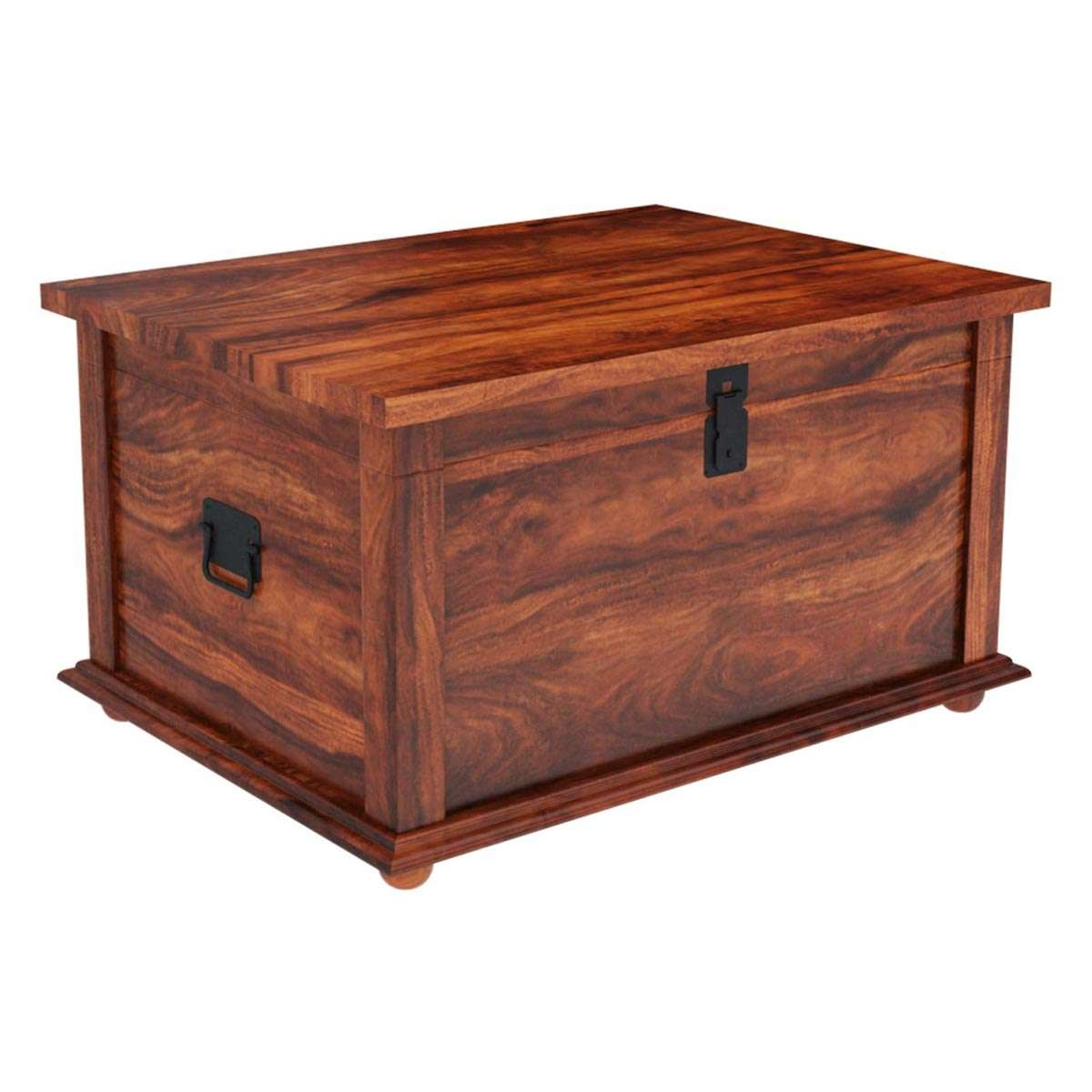 Fashionable Storage Trunk Coffee Tables Pertaining To Wood Storage Grinnell Storage Chest Trunk Coffee Table (View 8 of 20)