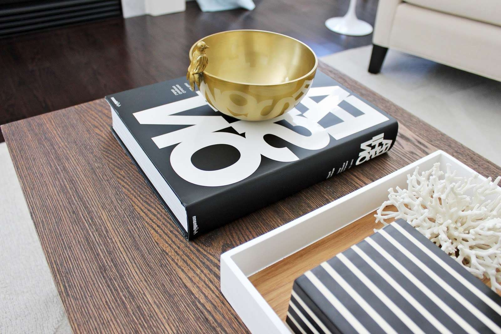Fashionable White And Black Coffee Tables In Am Dolce Vita: Stylish Black White Coffee Table Books (View 5 of 20)