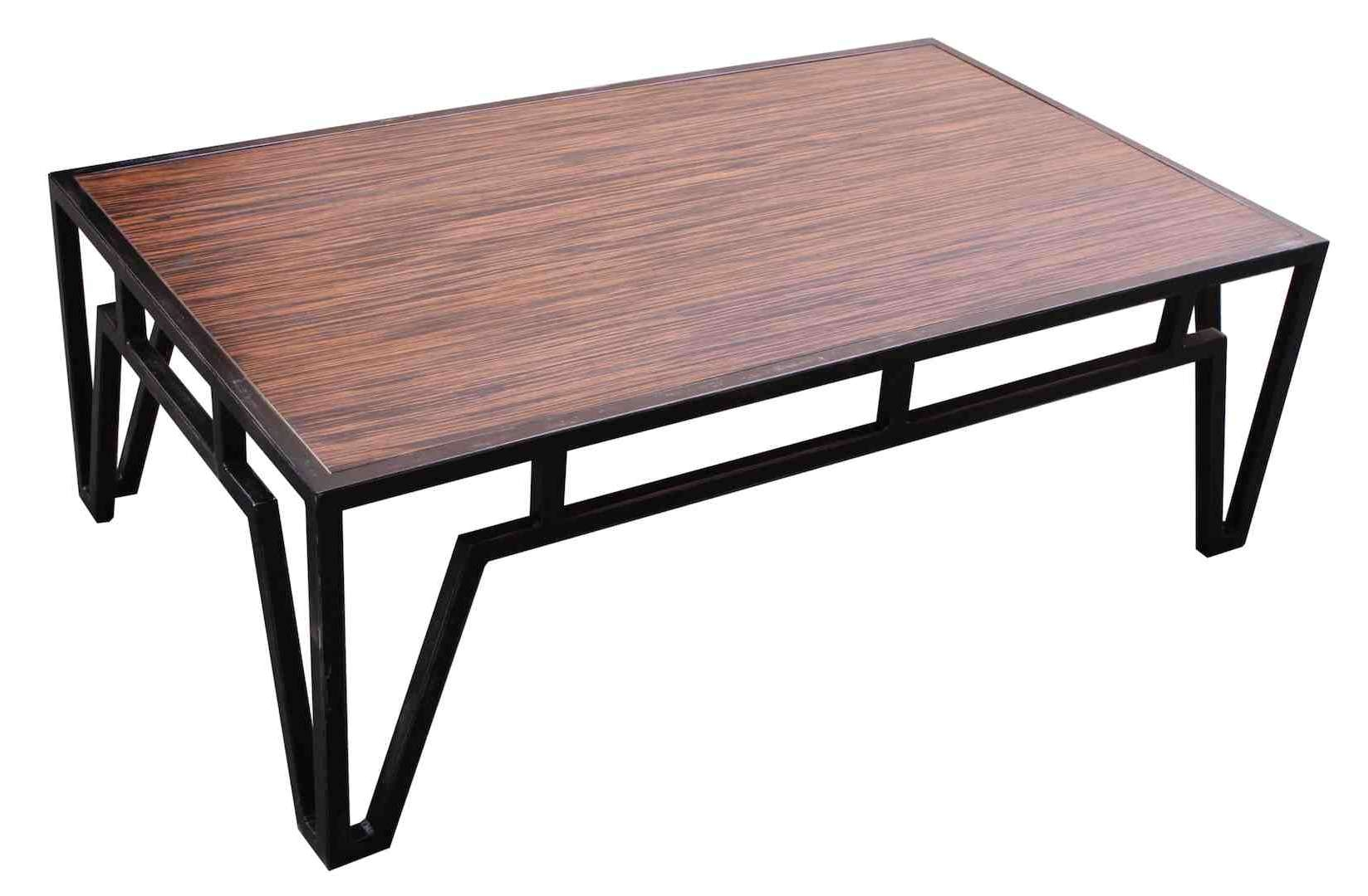 Fashionable Wood And Steel Coffee Table For Coffee Table: Amazing Metal Coffee Tables Design Black Metal (View 3 of 20)
