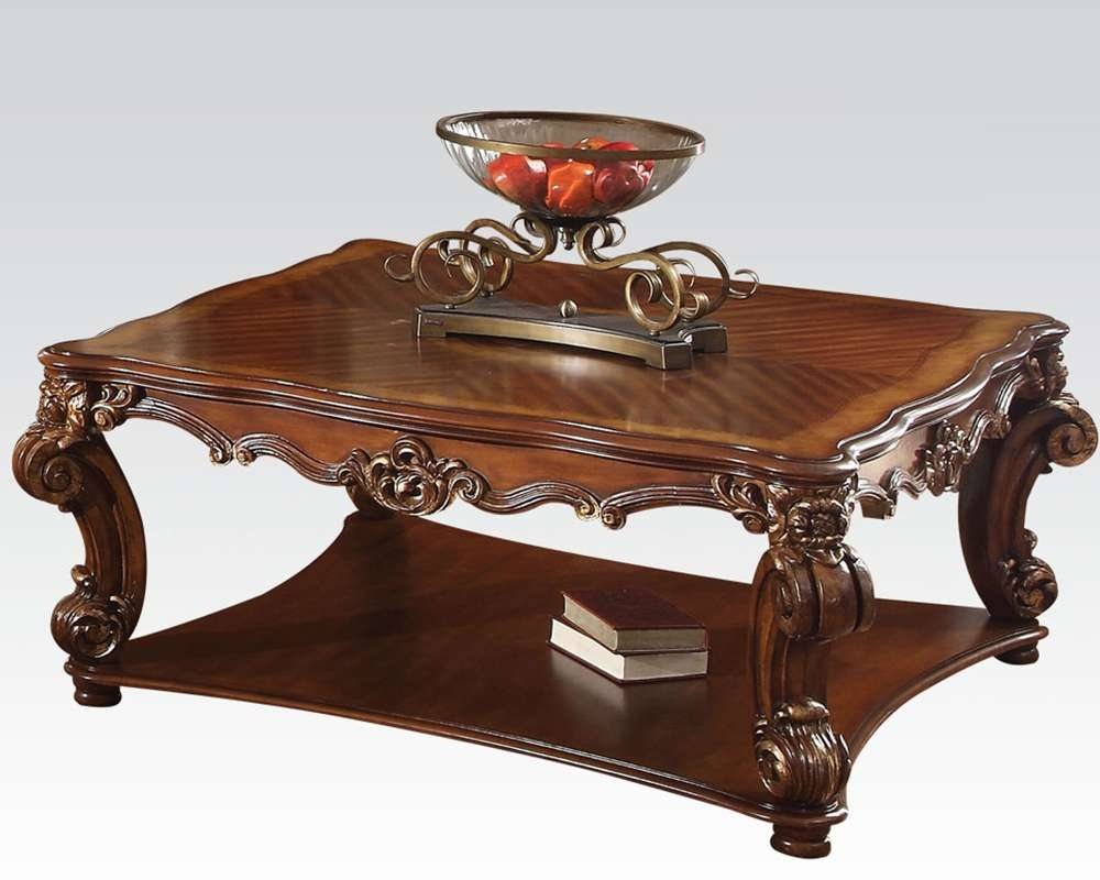 Favorite Cherry Wood Coffee Table Sets For Traditional Square Coffee Table Vendome Cherryacme Ac (View 6 of 20)