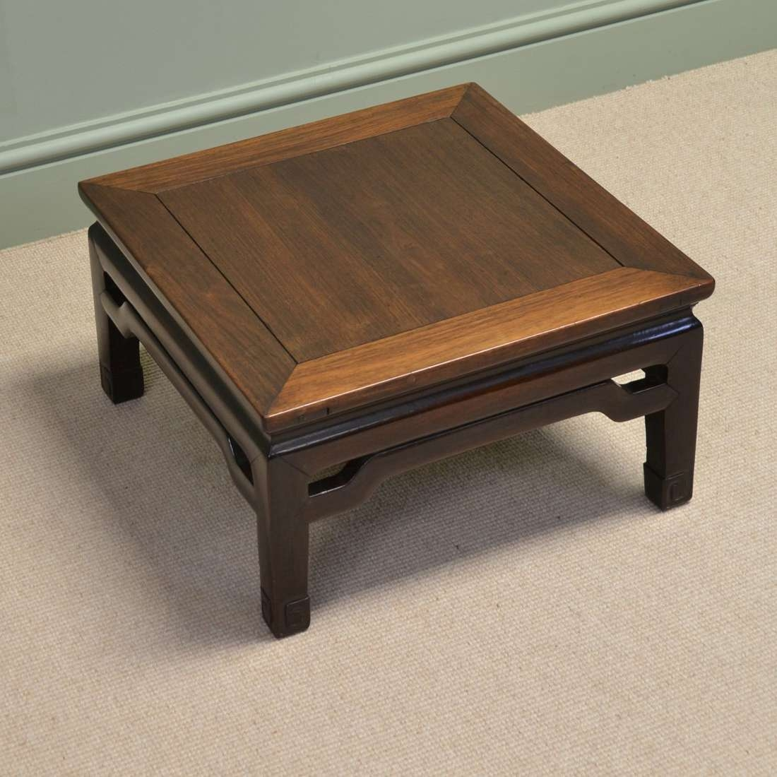 Favorite Chinese Coffee Tables With Regard To Dark Brown Small Square Country Style Solid Wood Chinese Coffee (View 8 of 20)