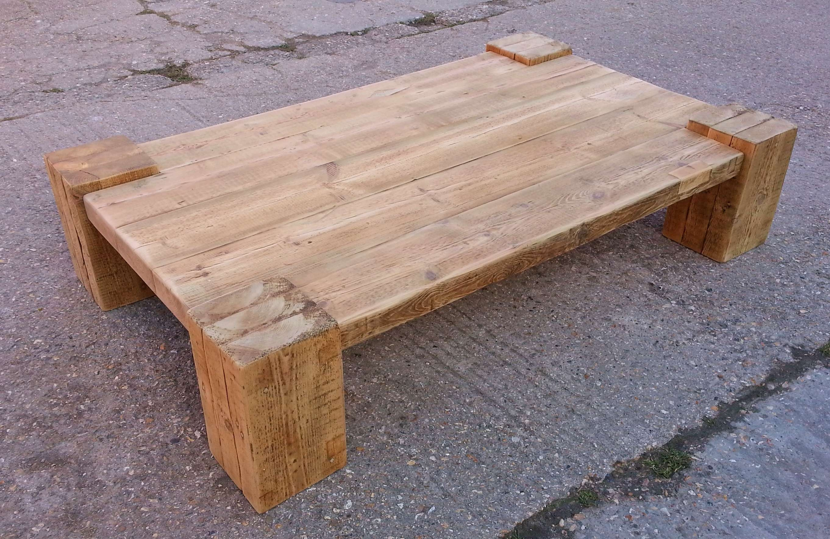 Favorite Chunky Coffee Tables Intended For Best Chunky Coffee Table With Drawers – 2X4 Coffee Table Plans (View 4 of 20)
