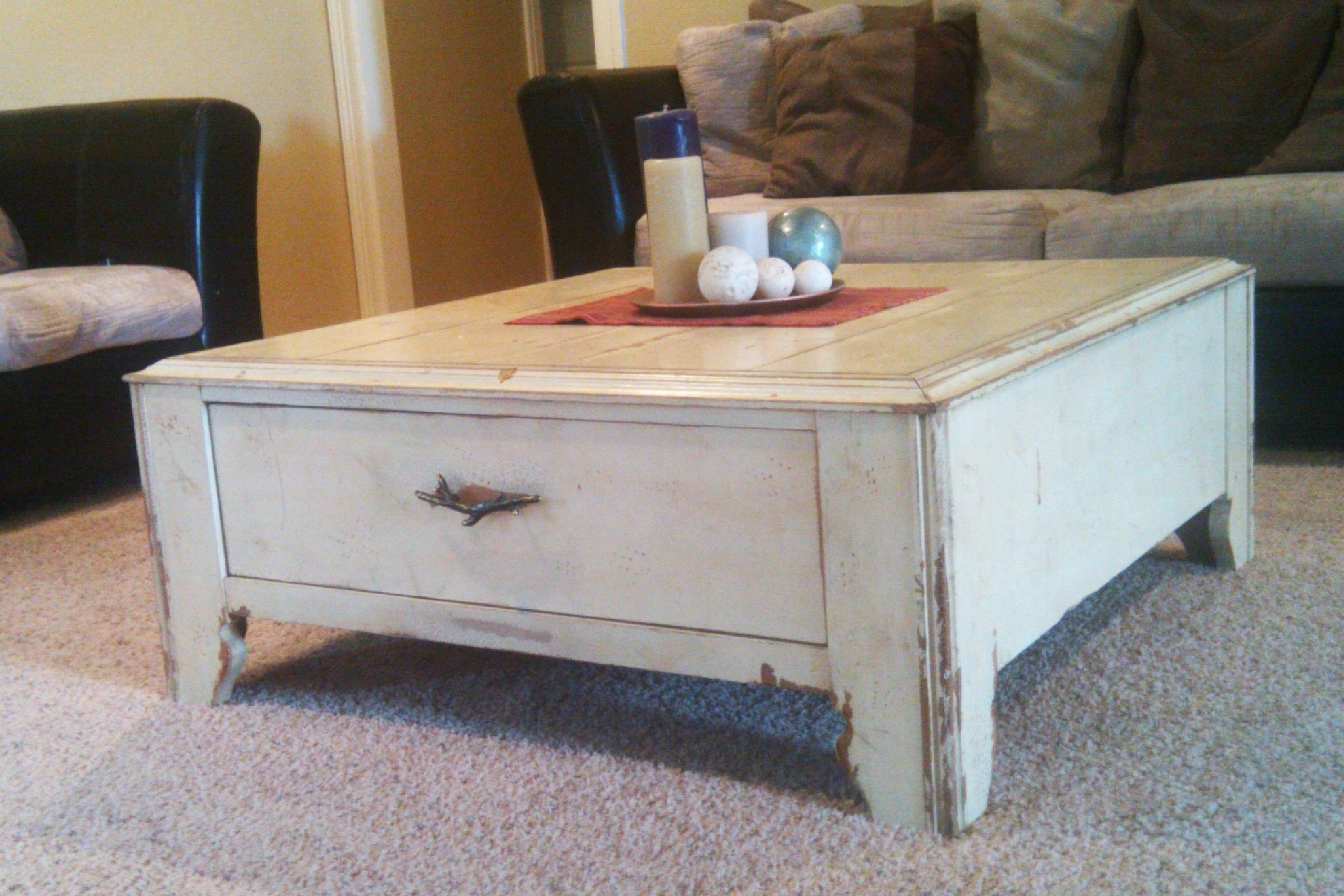 Favorite Cream Coffee Tables With Drawers Throughout Coffee Tables : Industrial Coffee Table With Drawers Diy Metal (View 9 of 20)