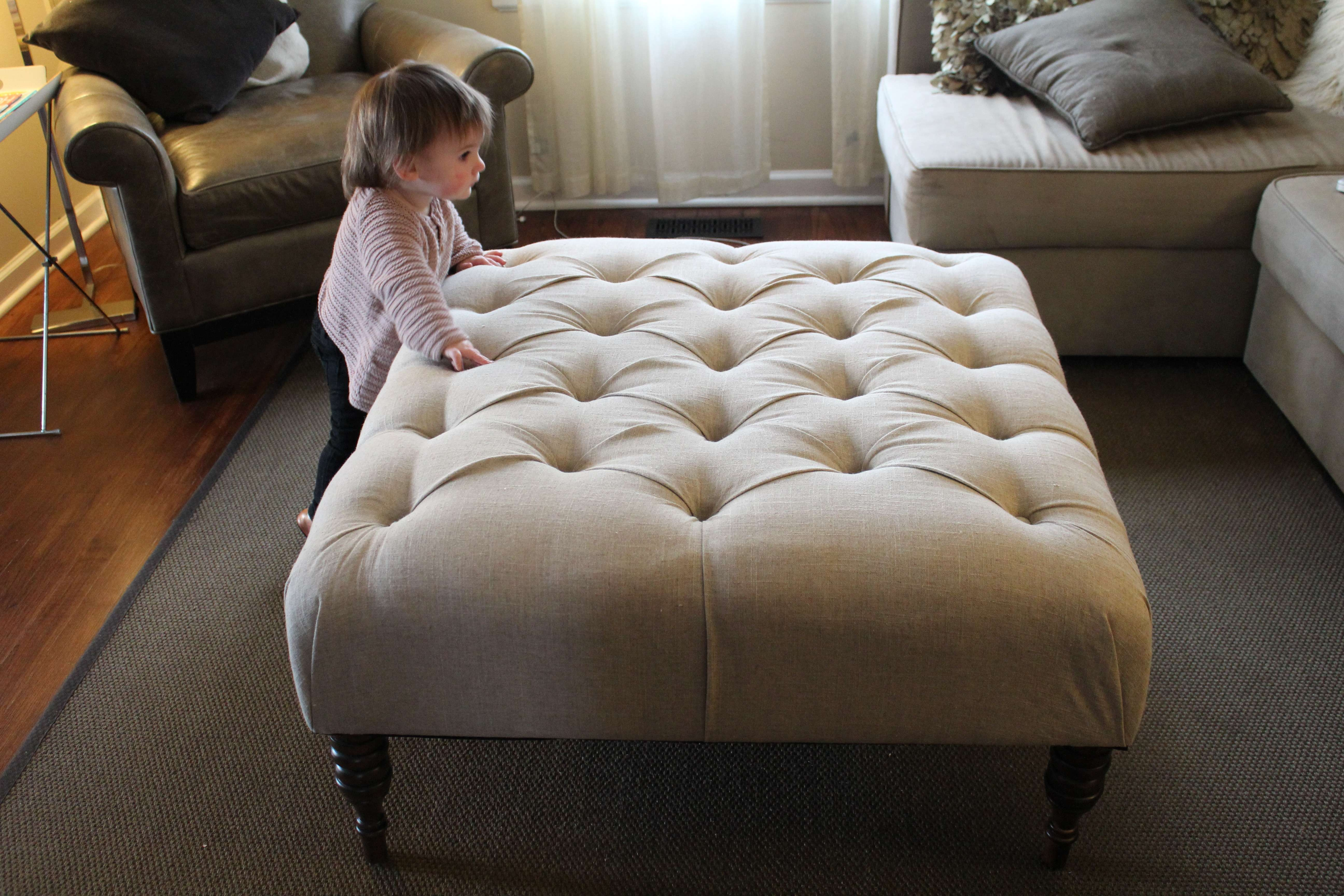 Favorite Fabric Coffee Tables With Tufted Ottoman Coffee Tables Tufted Coffee Table Ottoman Coffee (View 2 of 20)