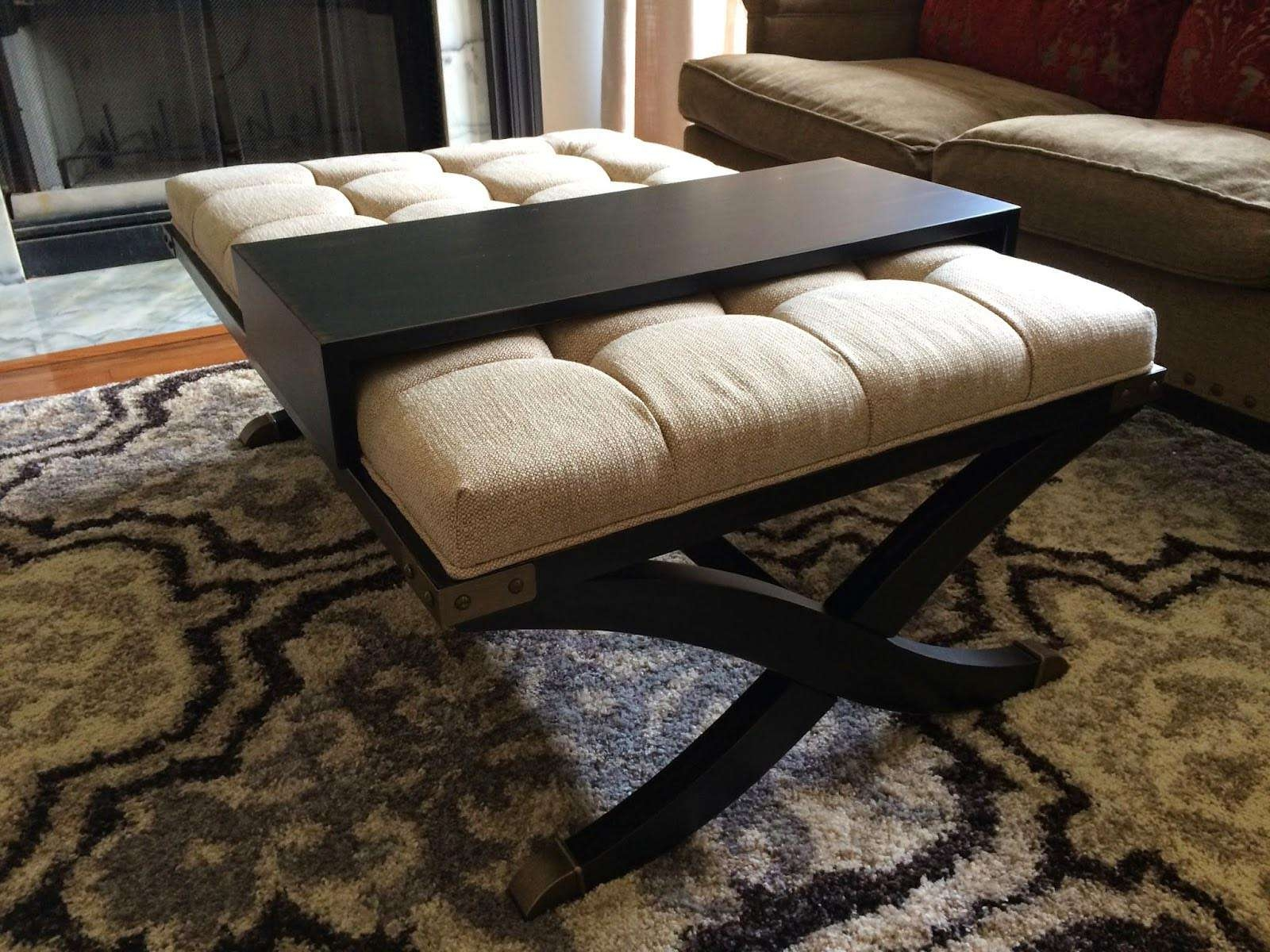 Favorite Footstool Coffee Tables Throughout Padded Coffee Table Cover (View 9 of 20)