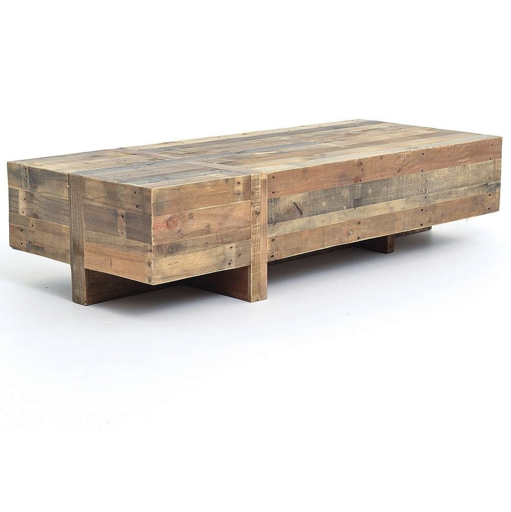 Favorite Large Low Rustic Coffee Tables With Regard To Coffee Table : Solid Wood Block Coffee Table Simple Low Rustic (View 9 of 20)