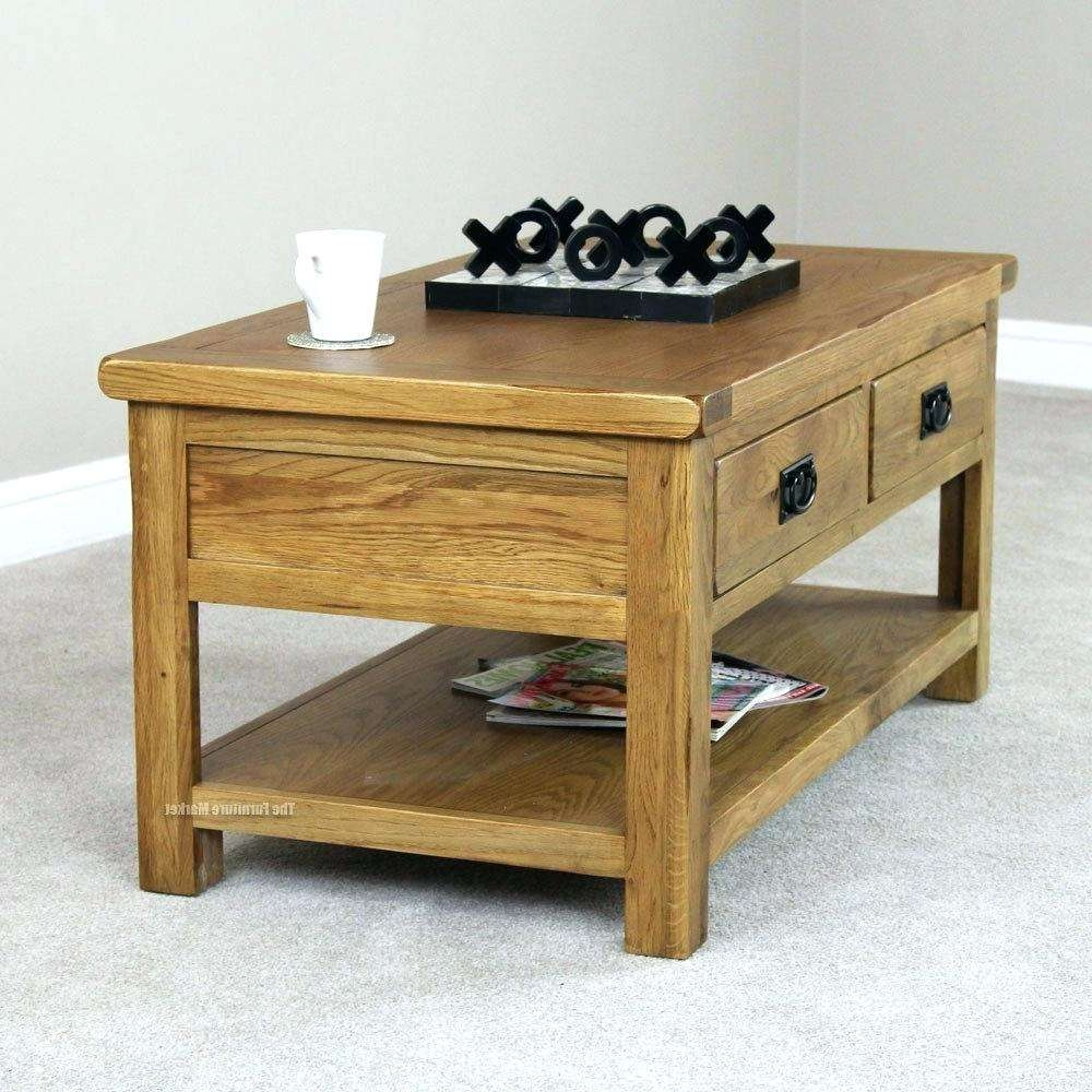 Favorite Light Oak Coffee Tables With Drawers With Regard To Side Table ~ Narrow Oak Side Table Full Size Of Holder End Tables (View 5 of 20)