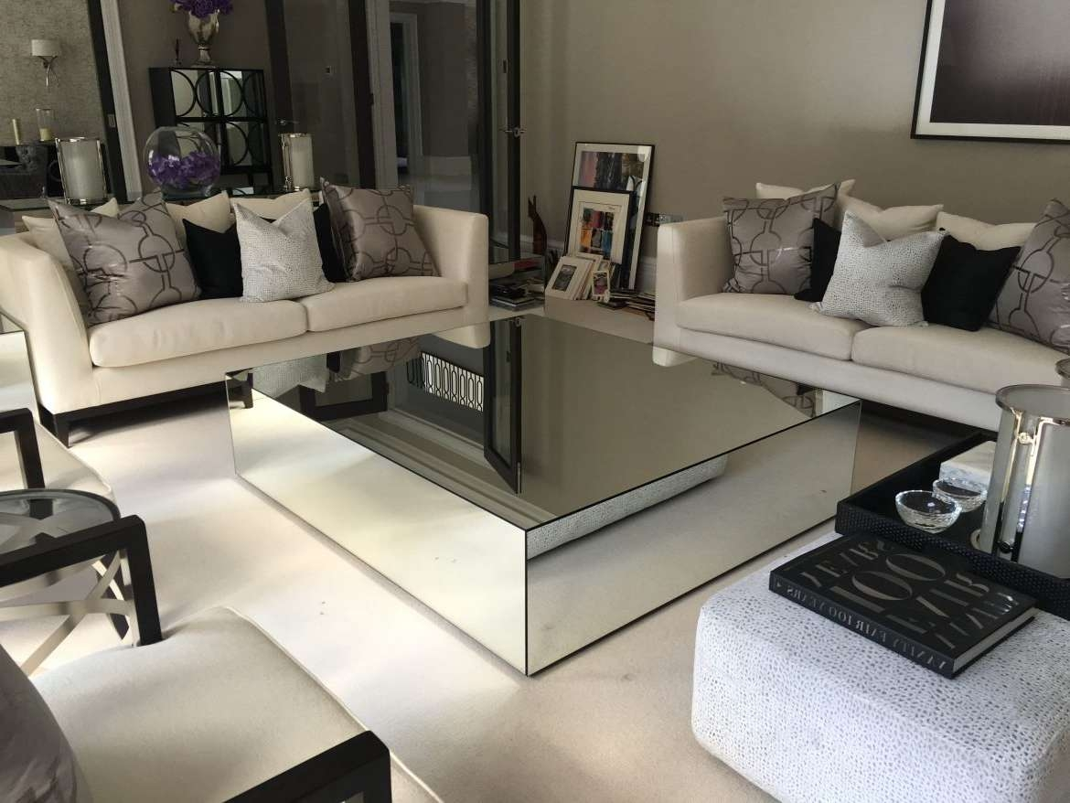 Favorite Mirrored Coffee Tables With Mirrored Coffee Tables – Klarity – Glass Furniture (View 5 of 20)