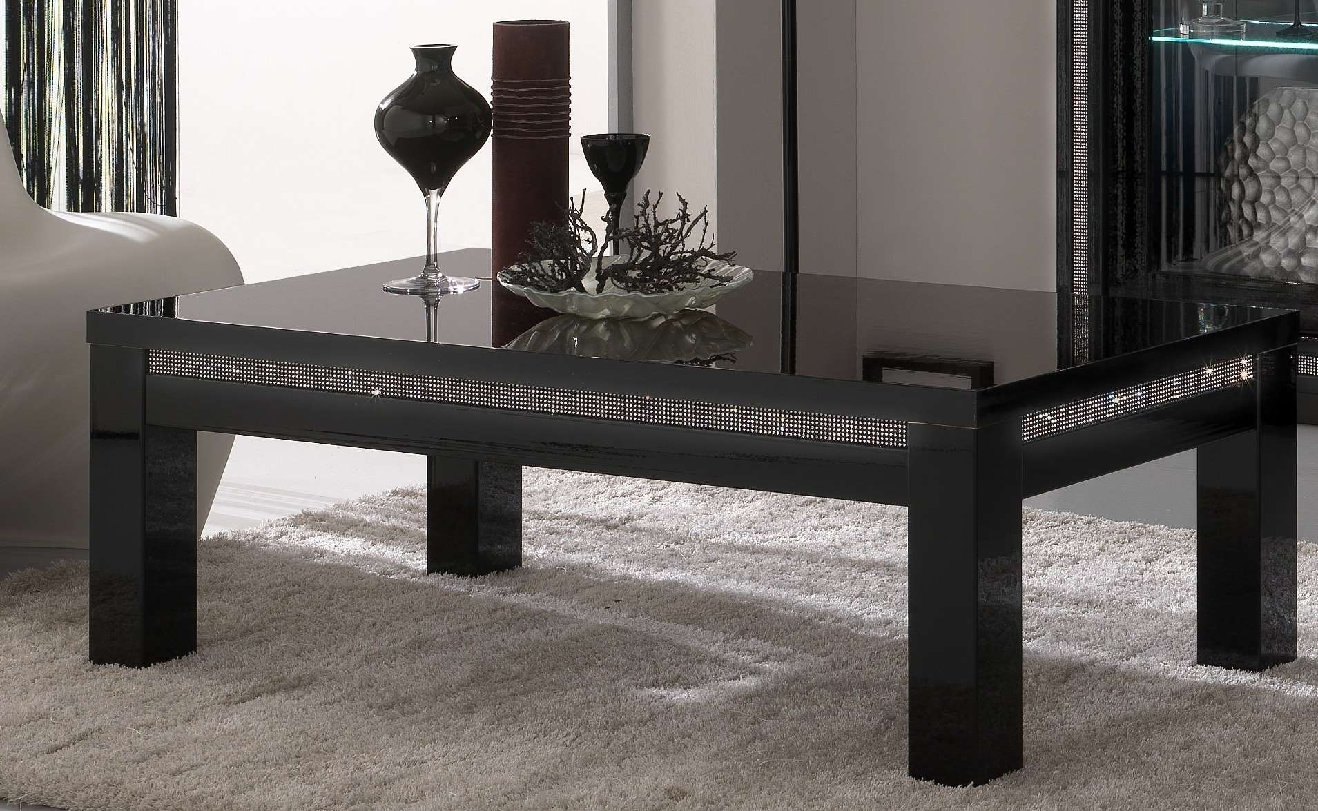 Favorite Modern Black Glass Coffee Table With Regard To Table Modern Black Glass Coffee Table Craftsman Compact Modern (View 4 of 20)