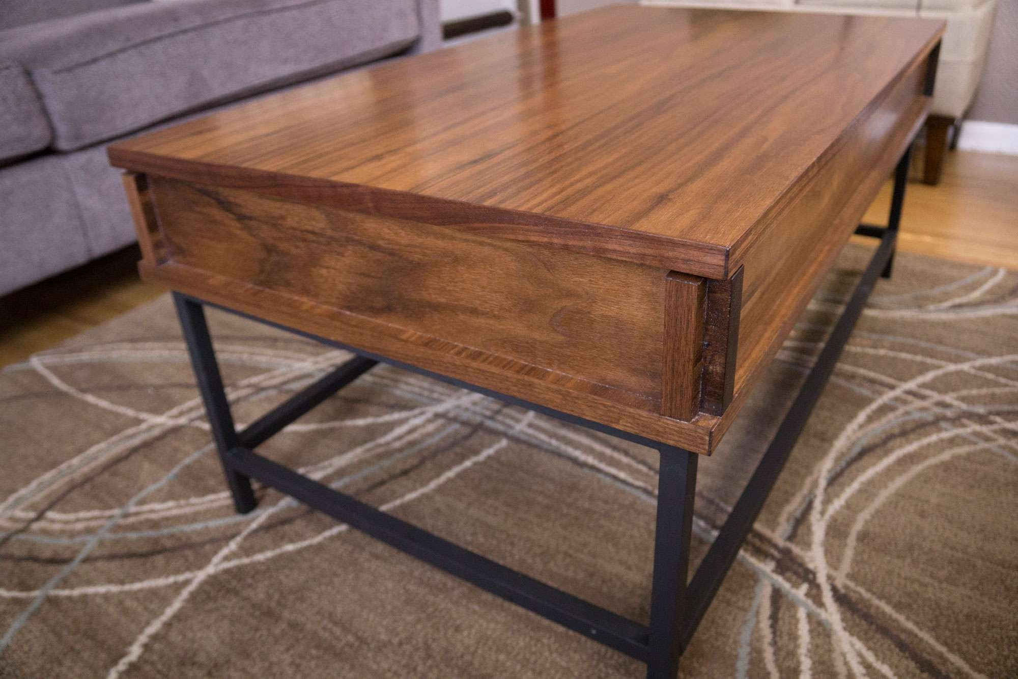 Favorite Pop Up Top Coffee Tables Throughout Coffee Tables : Lift Top Hinges Home Depot Pop Up Table Mechanism (View 12 of 20)
