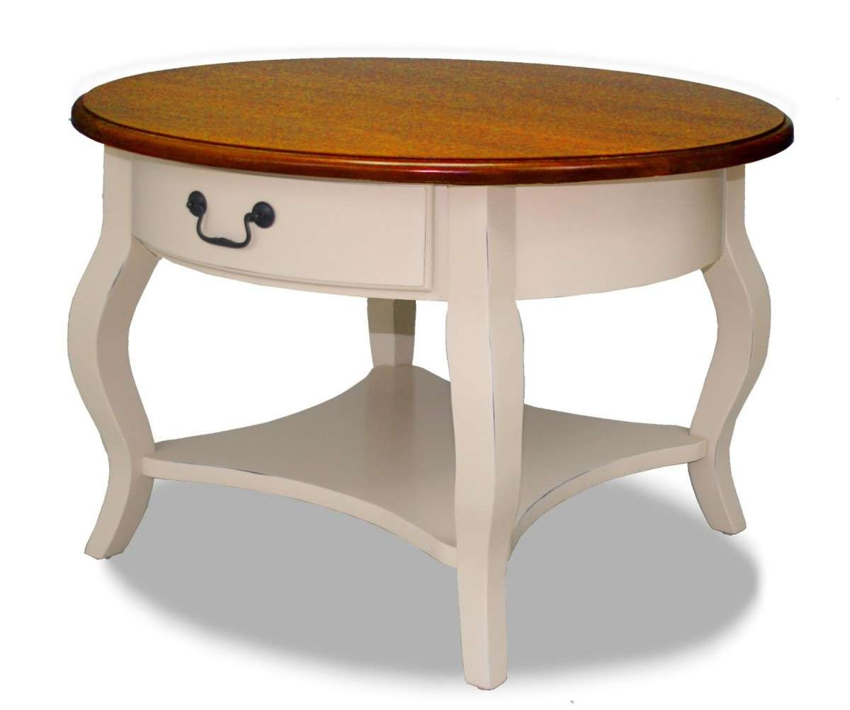 Favorite Round Coffee Tables With Drawer Regarding White Round Coffee Table With Drawers • Drawer Ideas (View 3 of 20)