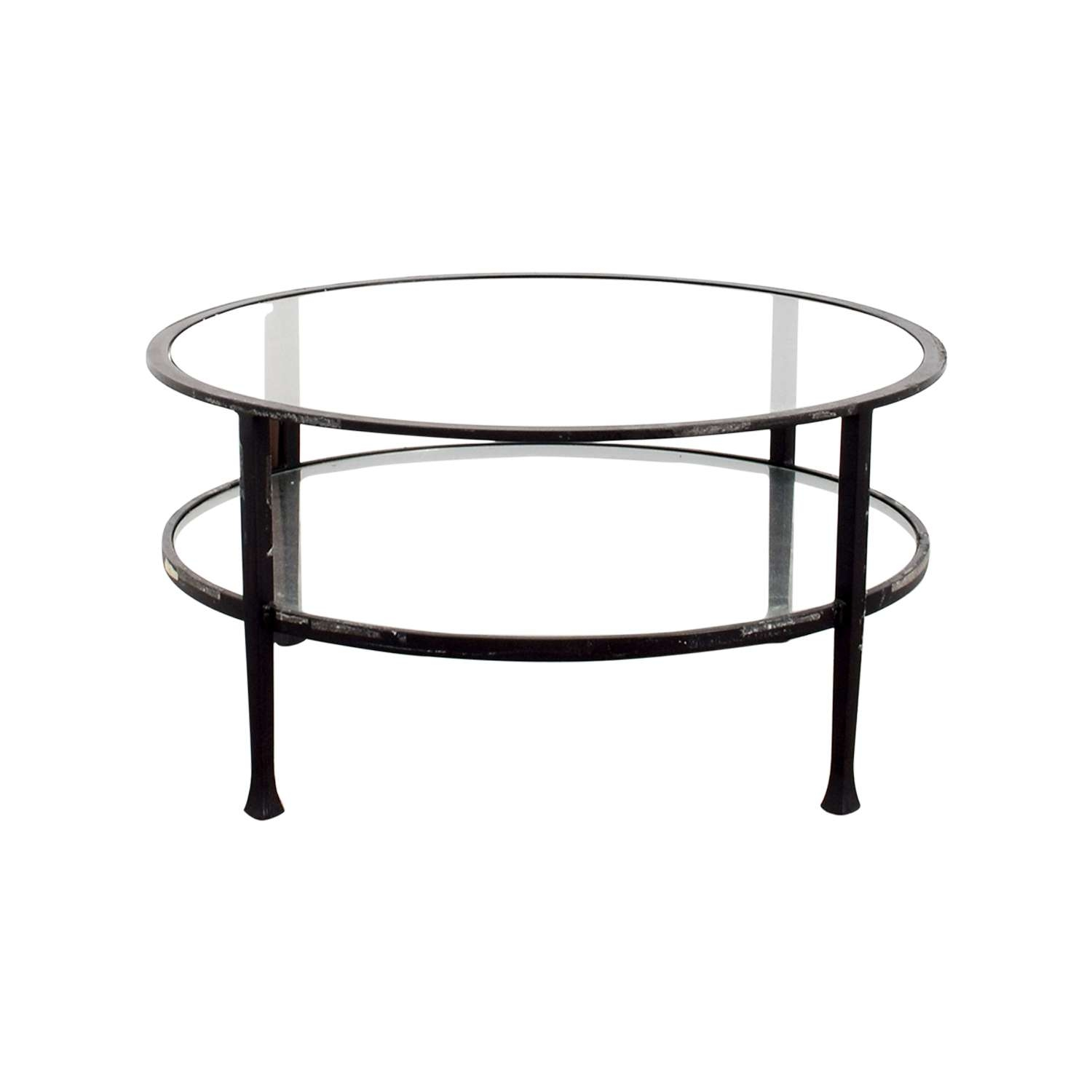 [%Favorite Round Glass Coffee Tables With 84% Off – Pottery Barn Pottery Barn Round Glass Coffee Table / Tables|84% Off – Pottery Barn Pottery Barn Round Glass Coffee Table / Tables With Regard To Well Known Round Glass Coffee Tables%] (View 1 of 20)