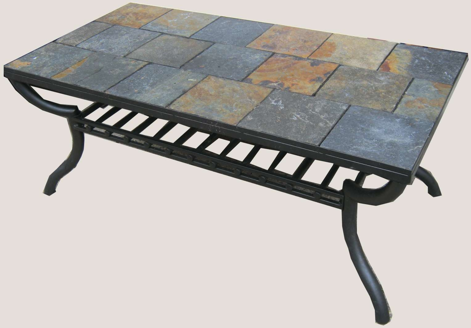 Favorite Round Slate Top Coffee Tables In Uhuru Furniture & Collectibles: Slate Tile Coffee Table Sold (View 19 of 20)