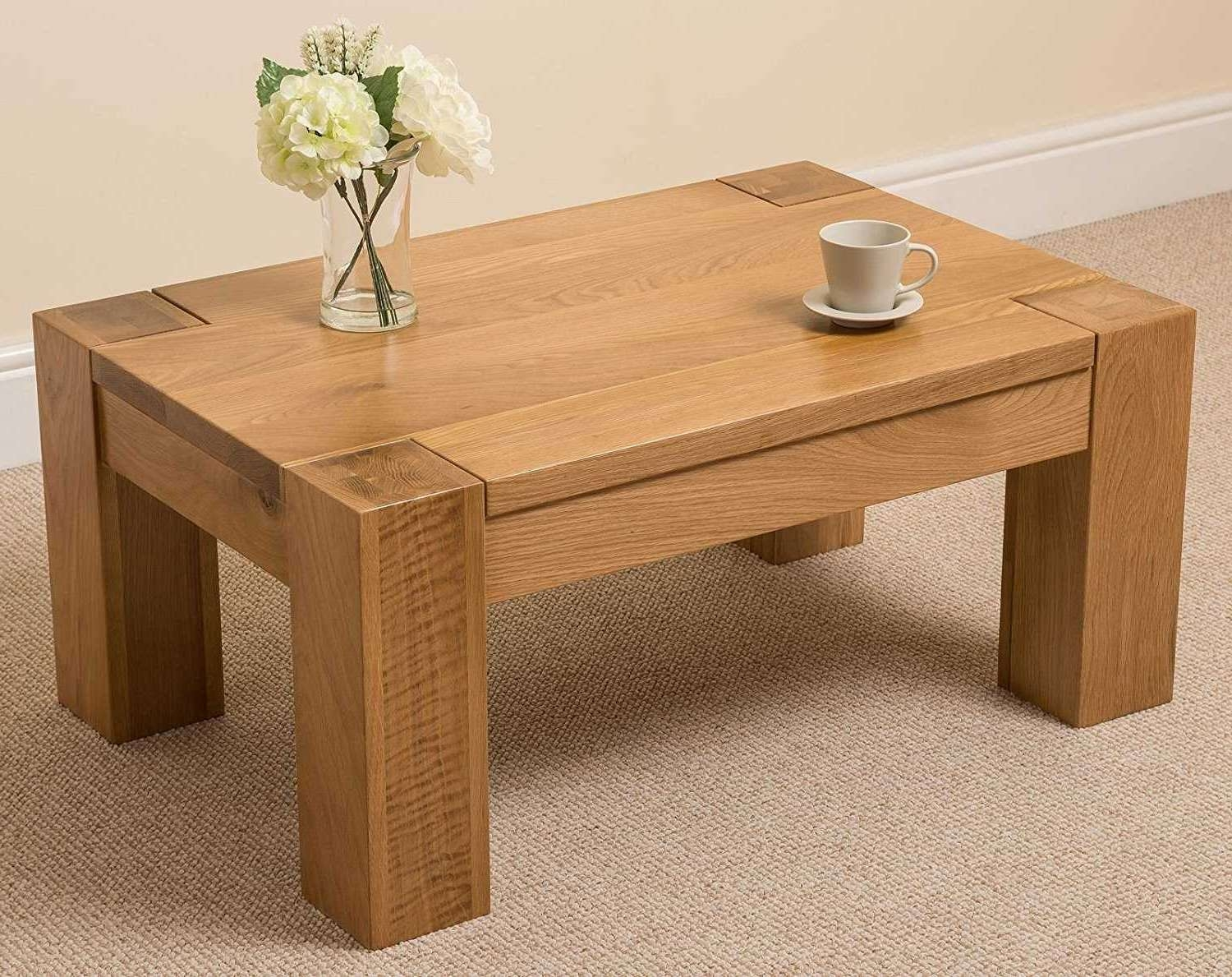 Favorite Square Coffee Table Oak Throughout Solid Coffee Table (View 17 of 20)